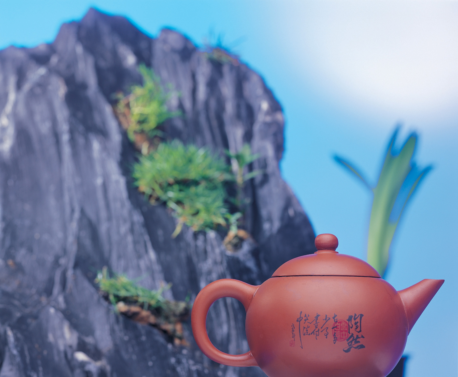 Wrote the calligraphy character teapot 51660