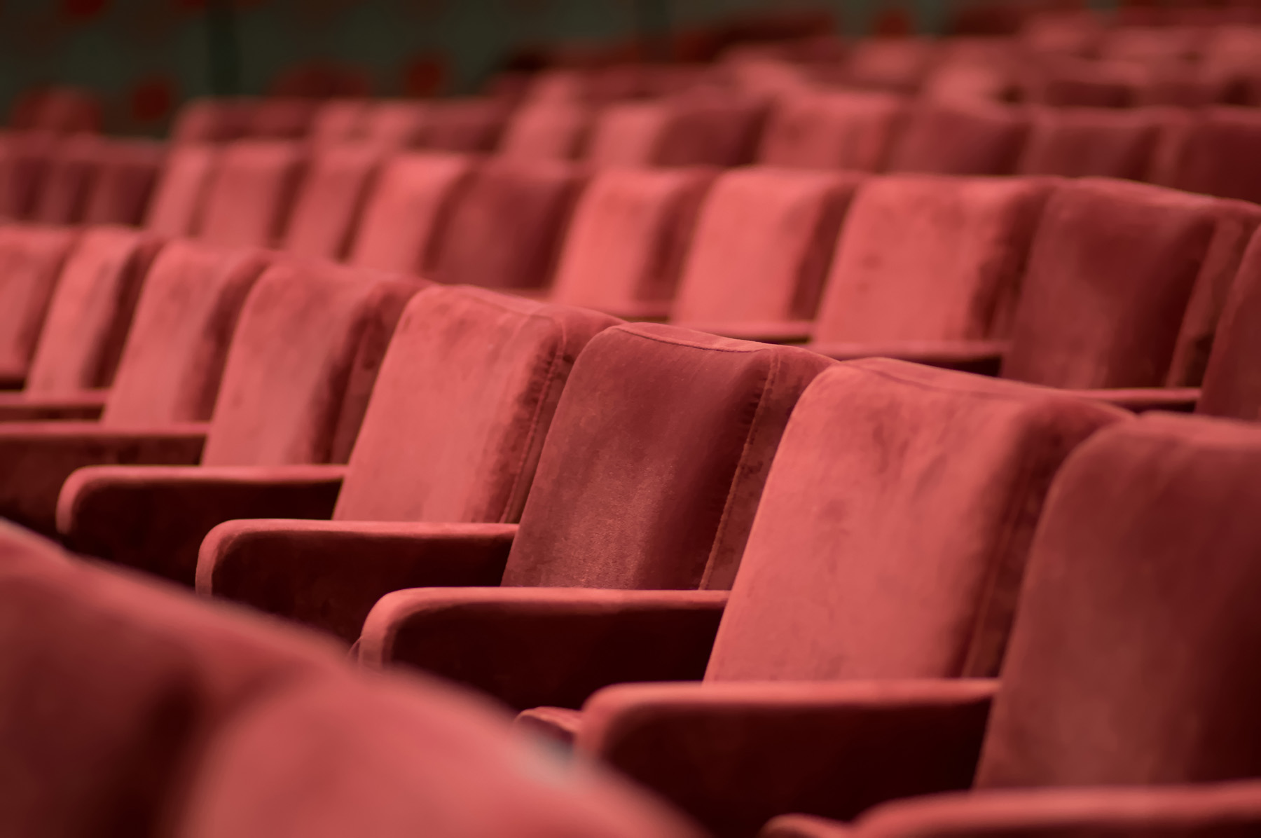 Red of the cinema seating 51661