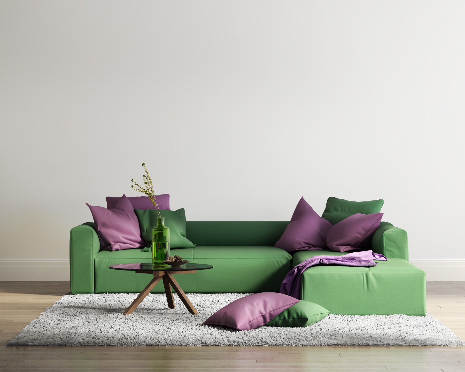 Indoor sofa pillow render effect 51726