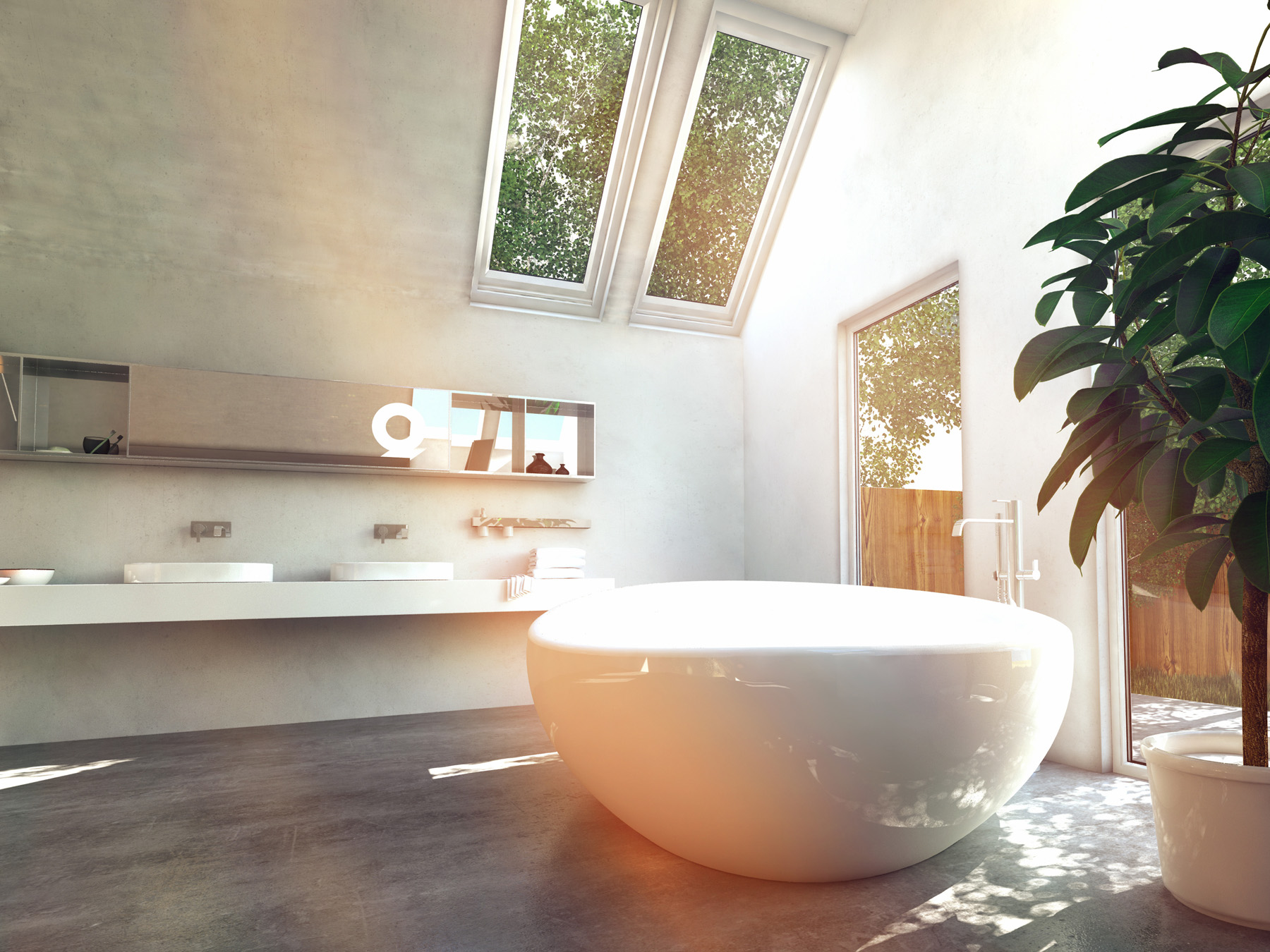 The washbasin in the room and bath 51741