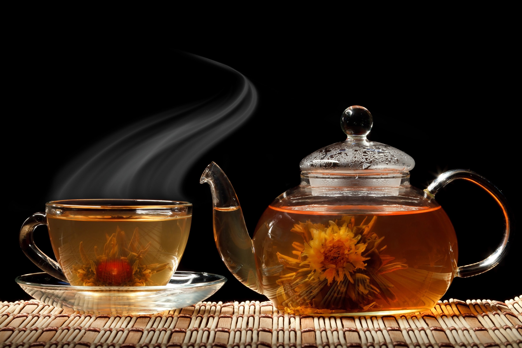 Teapot and has made of scented tea 51755