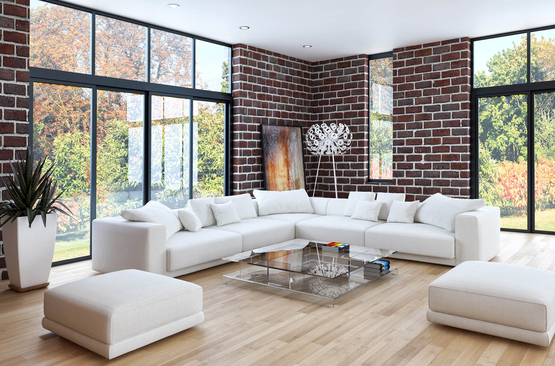 Indoor sofa with coffee table and other furniture 51769