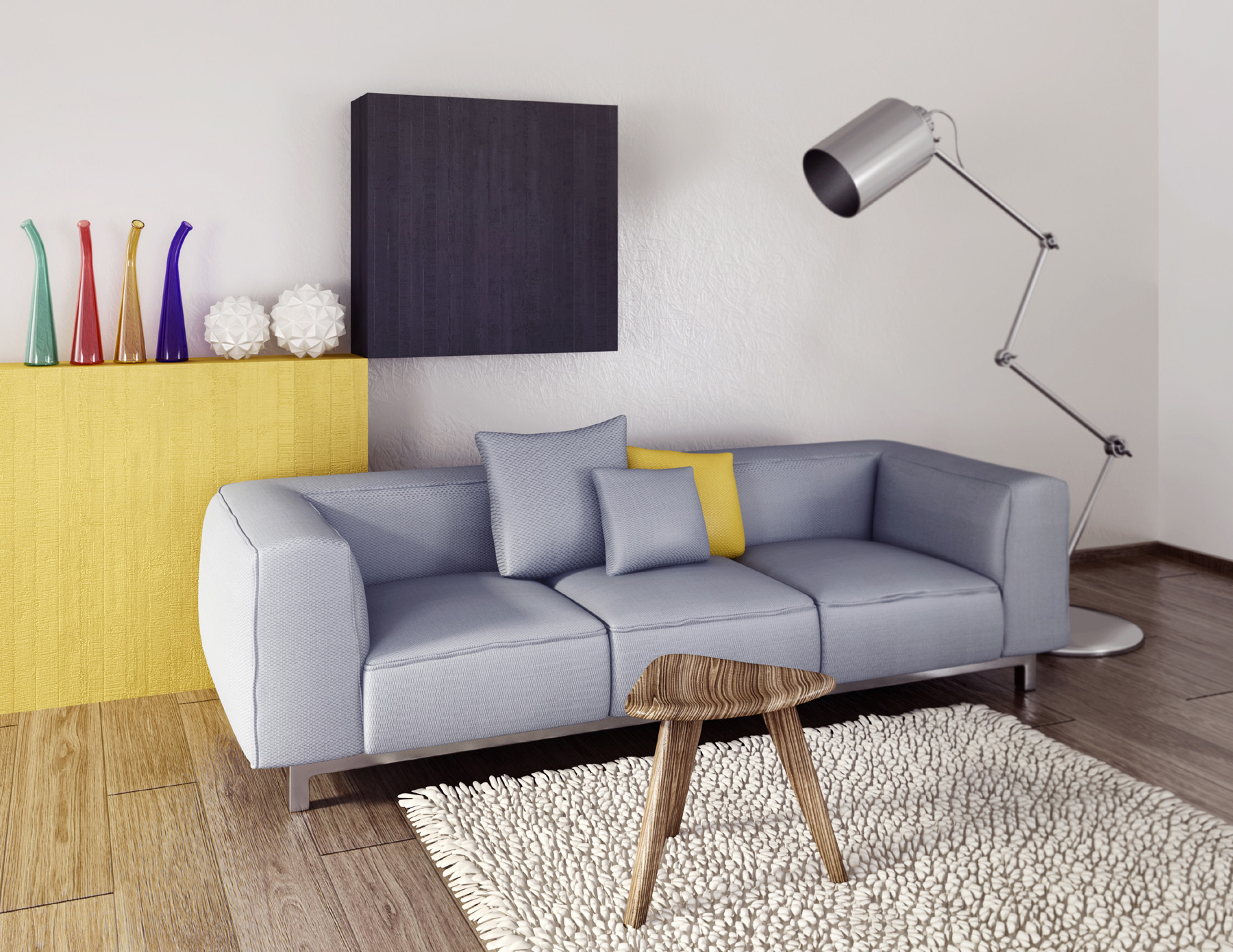 Room sofas stools and floor lamps 51792