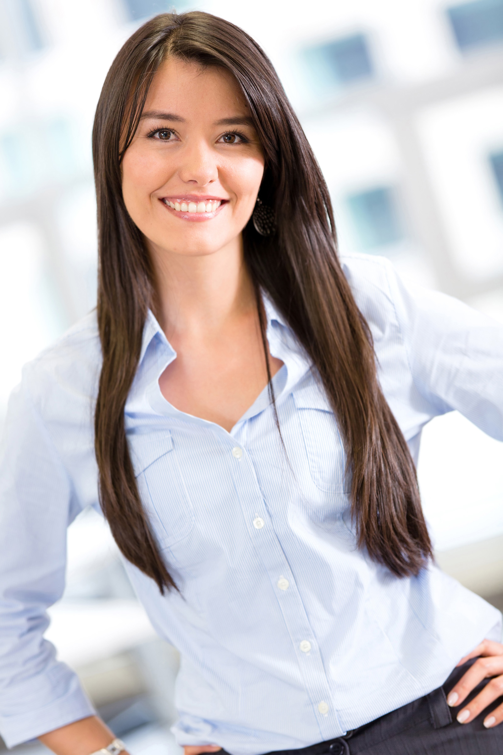 Hair Akimbo gestures in the workplace and girls 51809