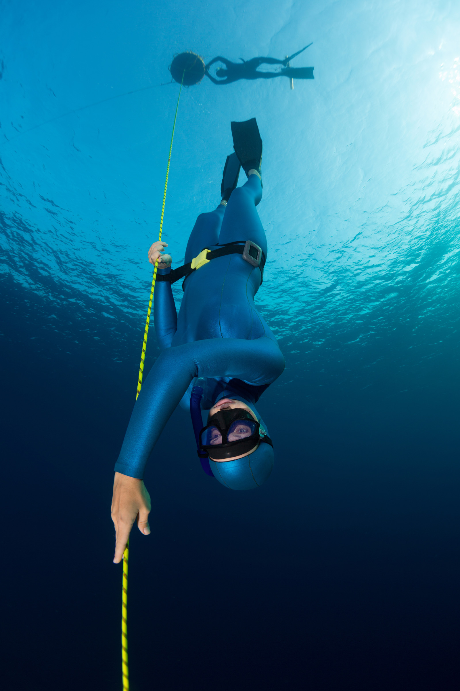 Climbed down ropes to dive to the bottom of the Frogman 51883