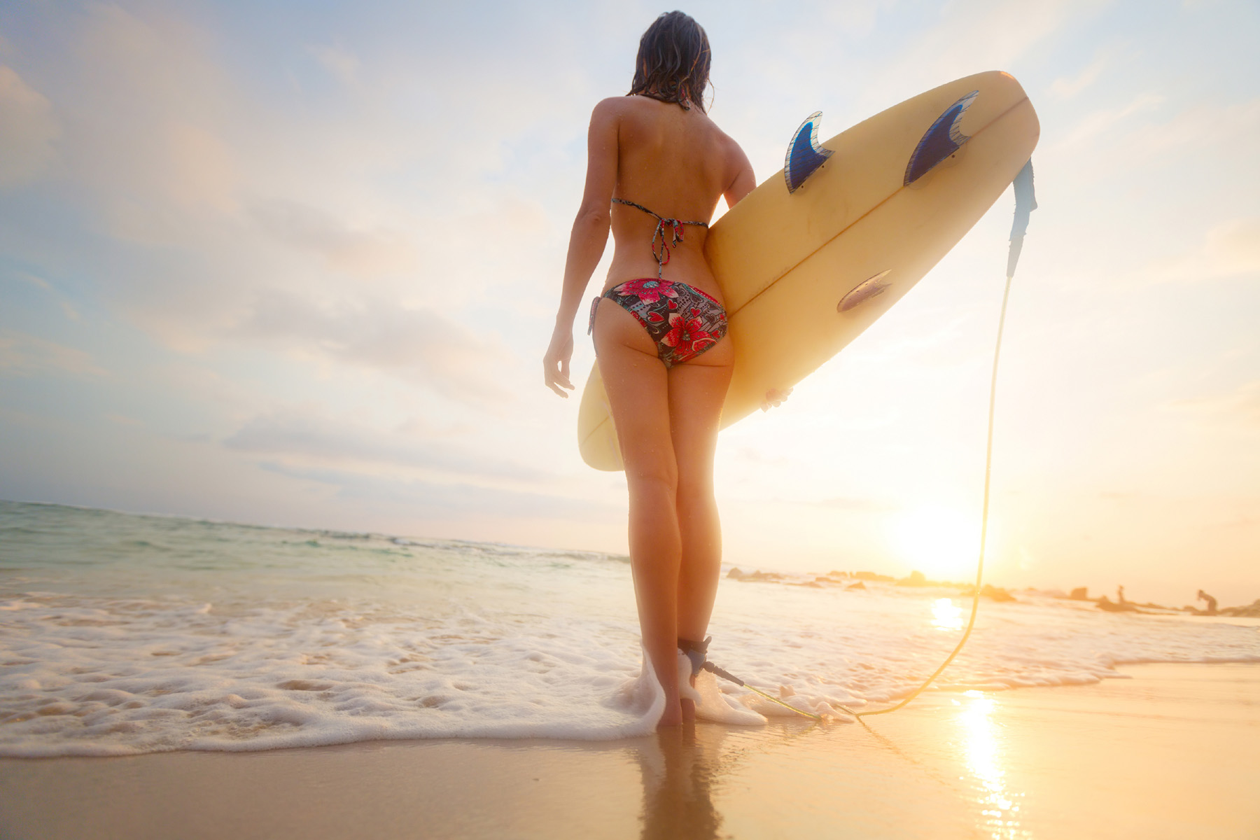 Surfboard in hand beautiful characters 51894