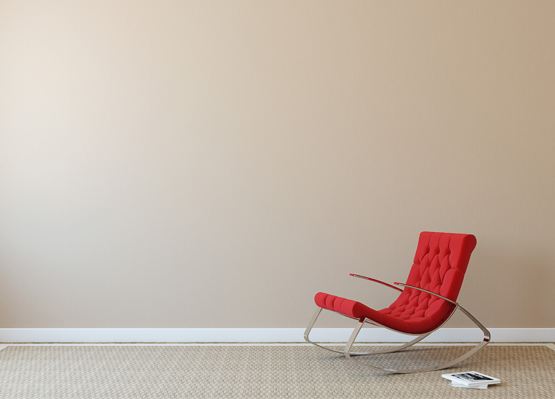 Room red sofa and rocking chair 51943