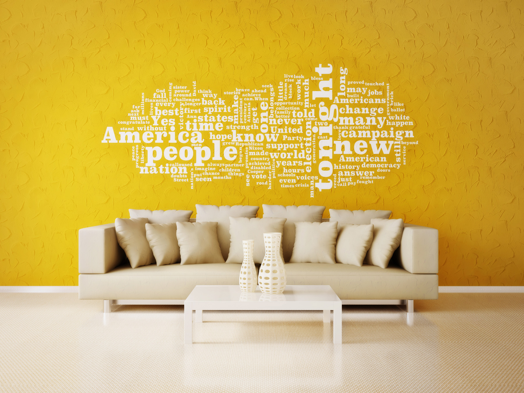 Text on the sofa and walls 51964 - Building home decoration - City ...