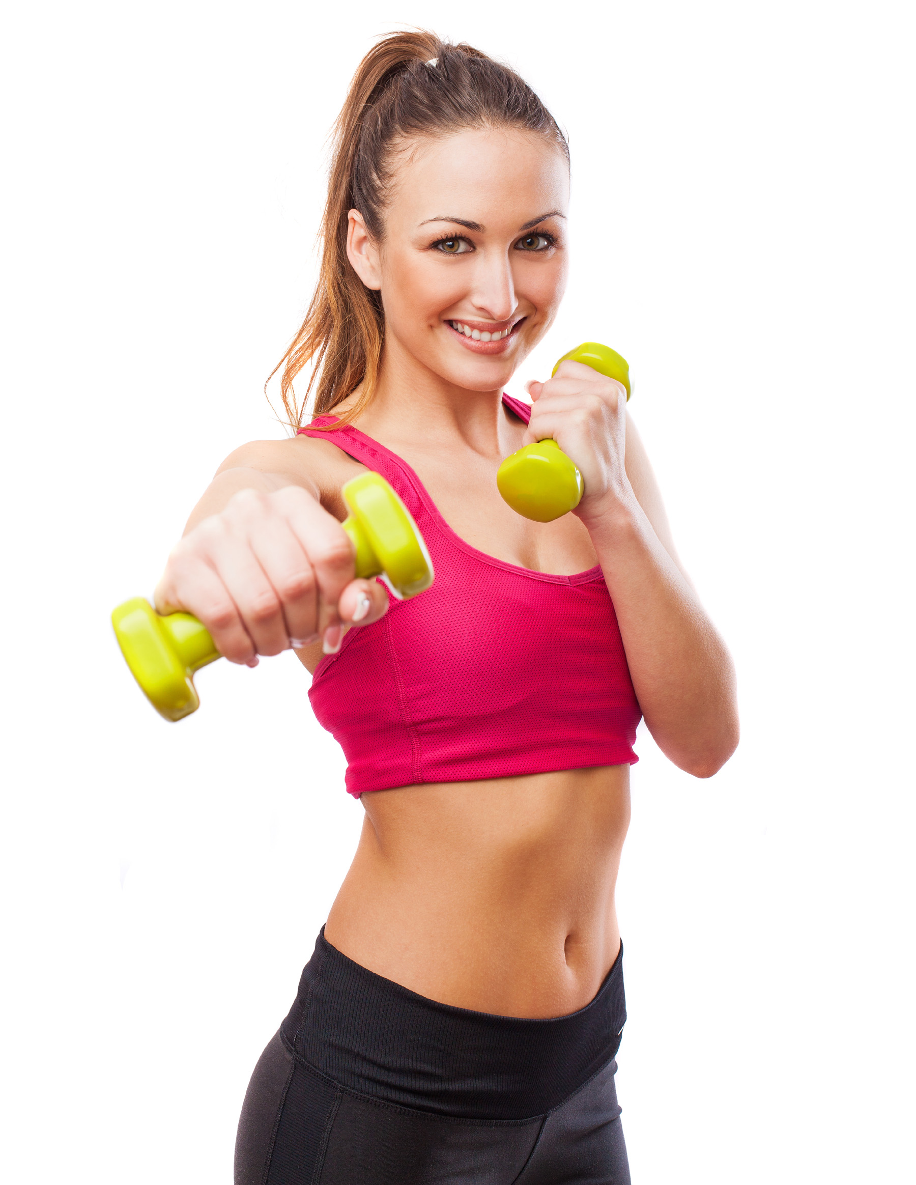 Holding dumbbell fitness beauties 52070