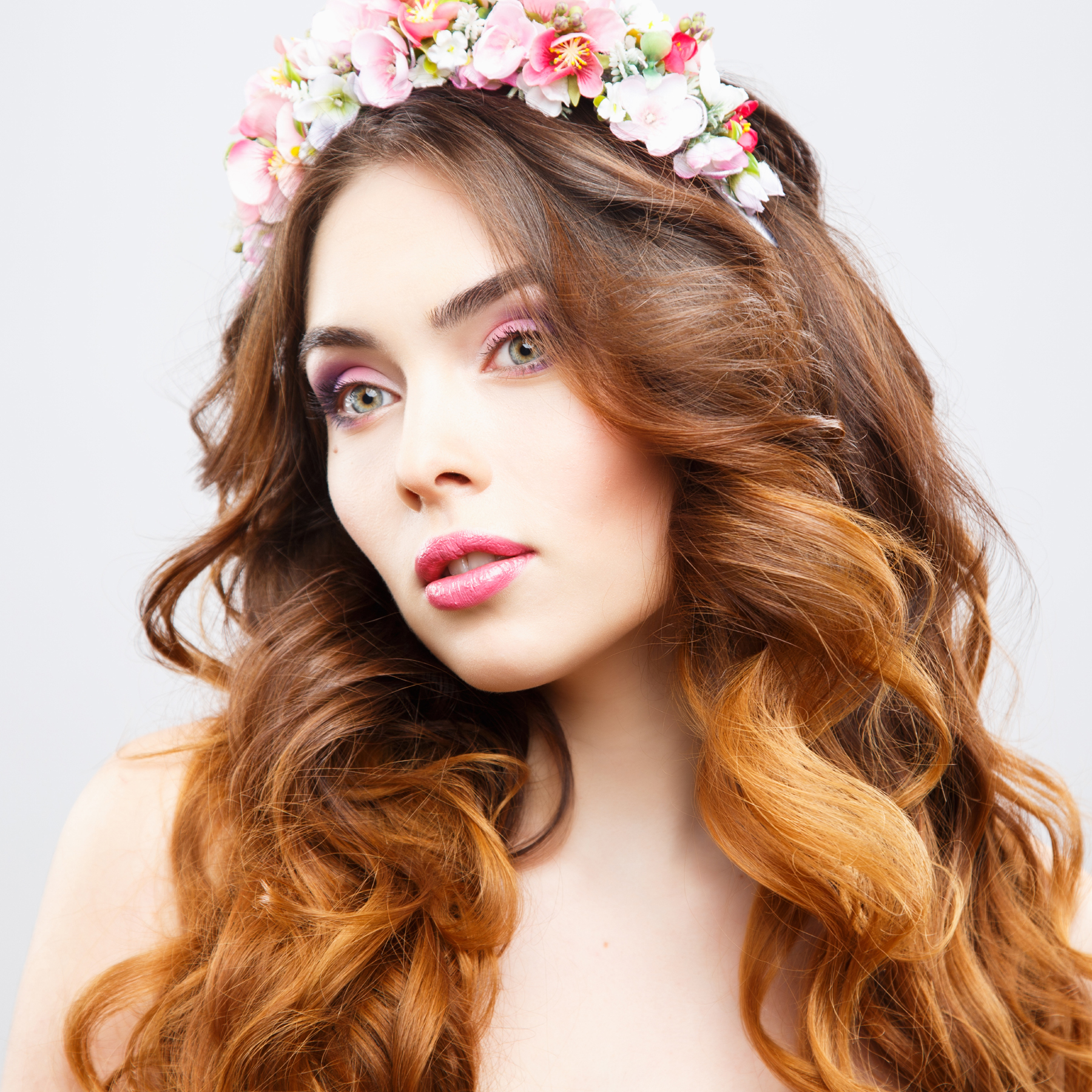 Flower tiara hair beauty characters 52171