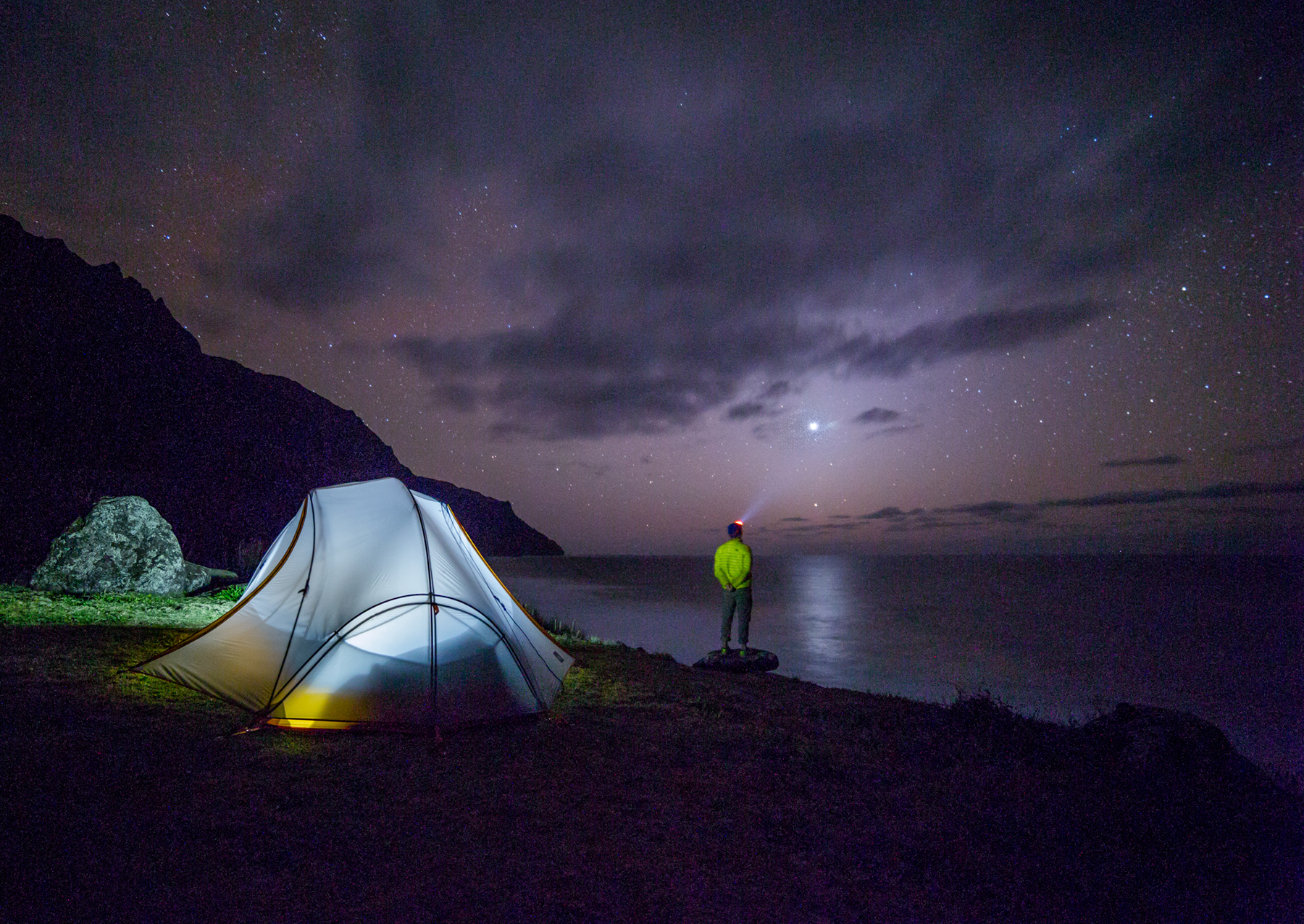 The night sky and small camping tents 52200