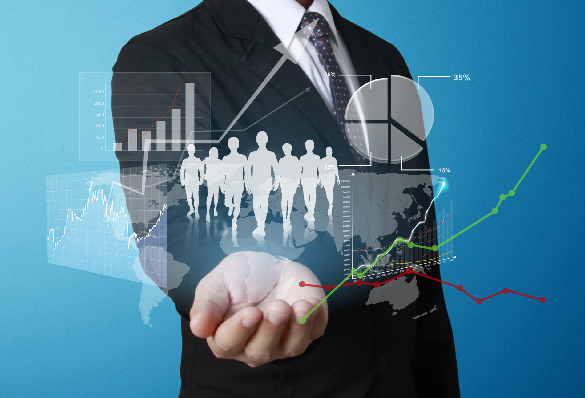 Click the touch info chart business people 52205