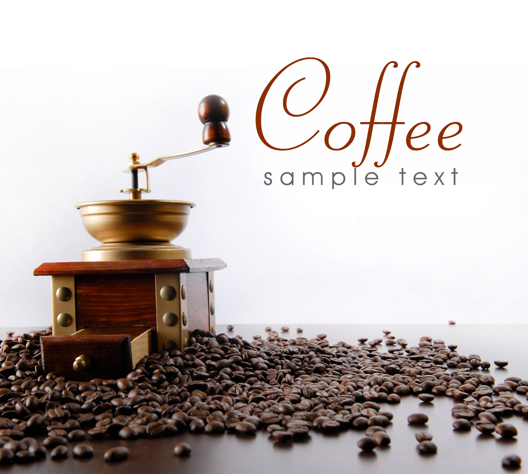 Coffee beans and coffee grinder 52275