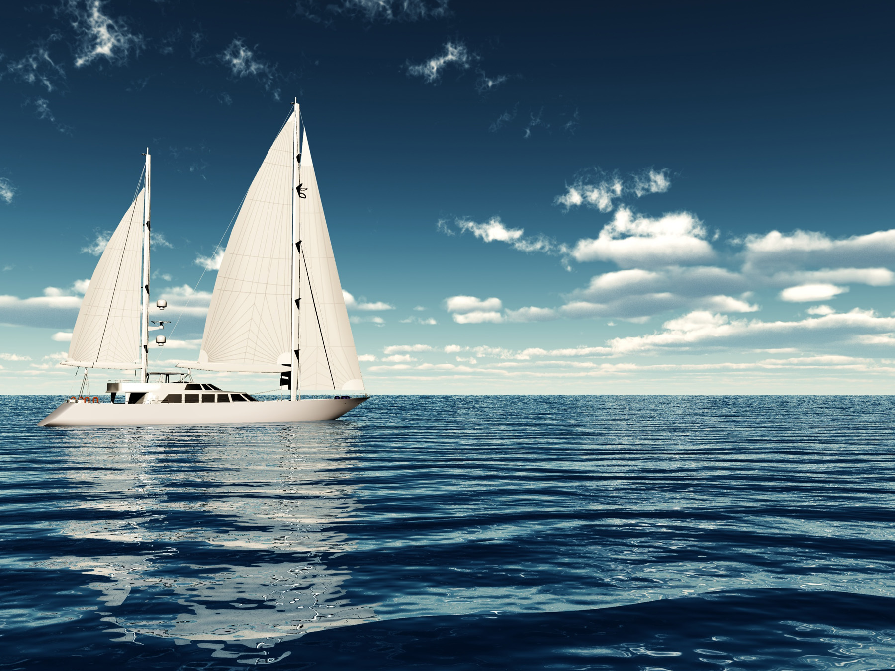 Cloud and in the sea of sailboats 52301