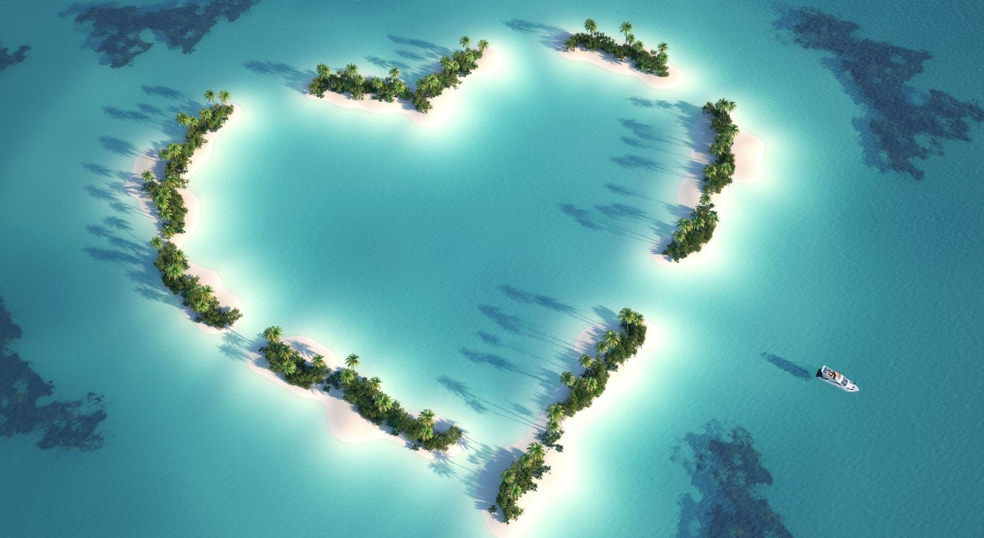 Heart-shaped island 52307