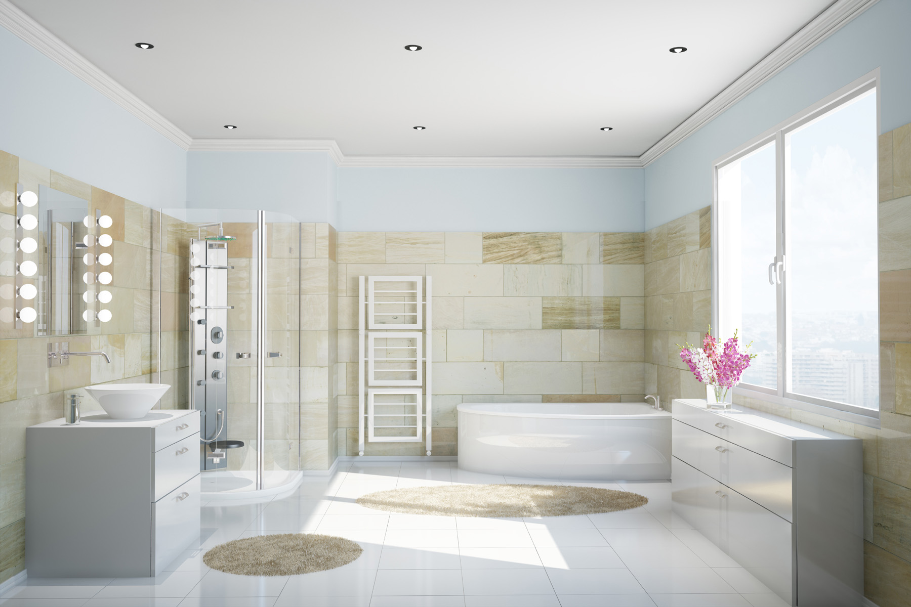 Spacious bathroom Interior 52466