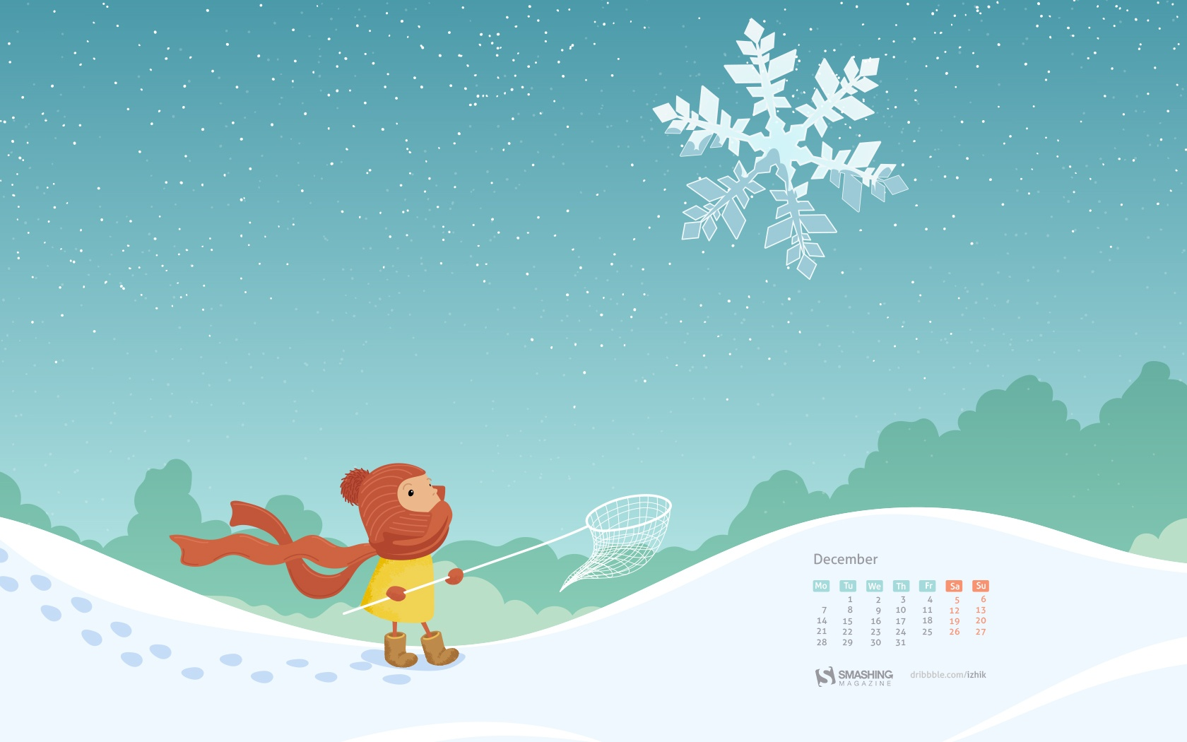 Month calendar Christmas desktop wallpaper 52522