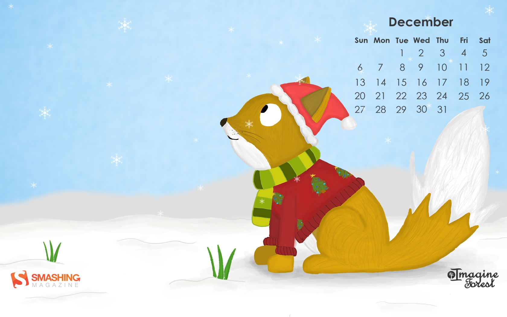 Month calendar Christmas desktop wallpaper 52526