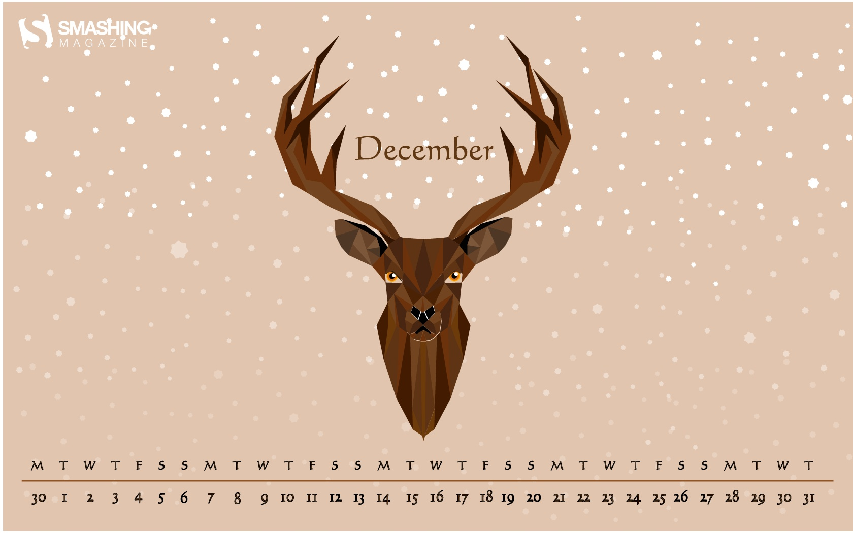 Month calendar Christmas desktop wallpaper 52532
