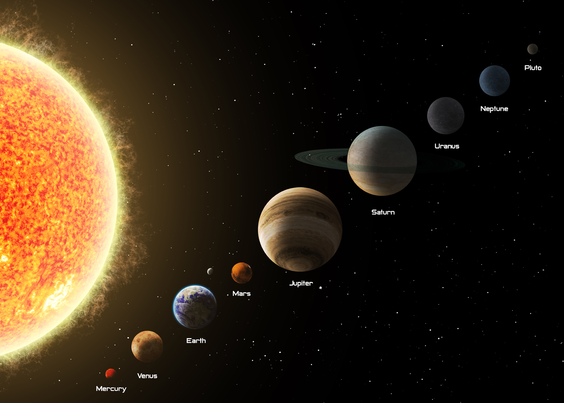 The nine planets in the solar creative 52575