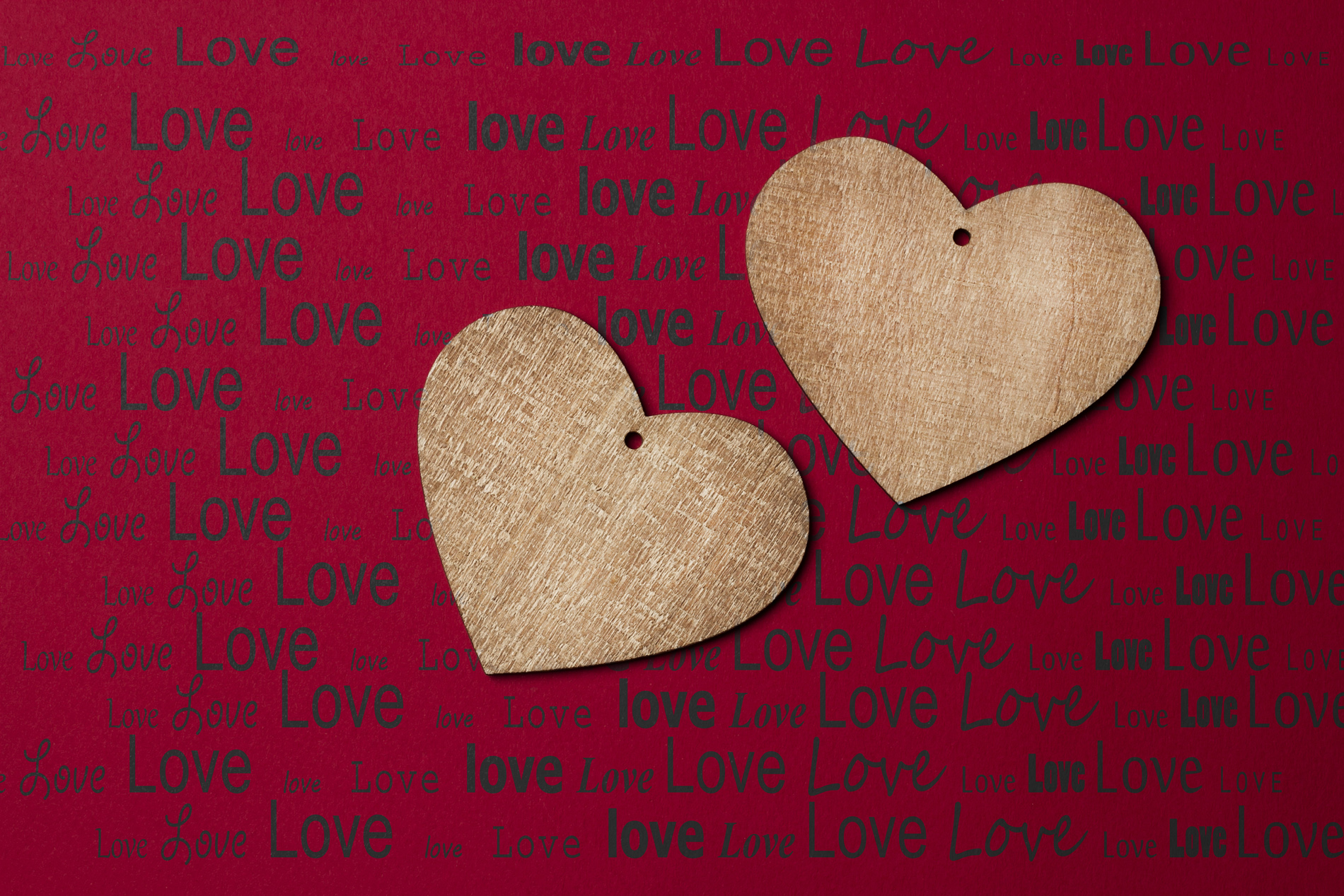 Alphabet background and a heart-shaped wooden sign 52606
