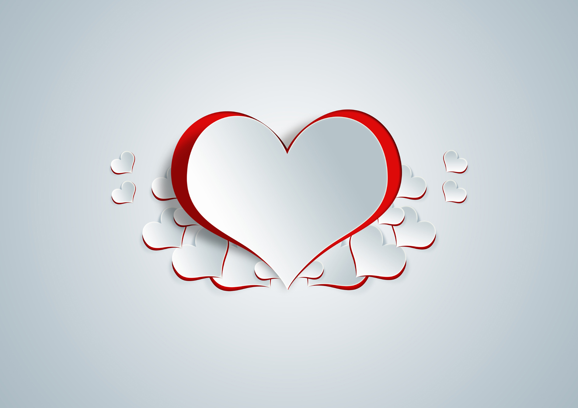Cut out the texture of heart-shaped pattern 52619