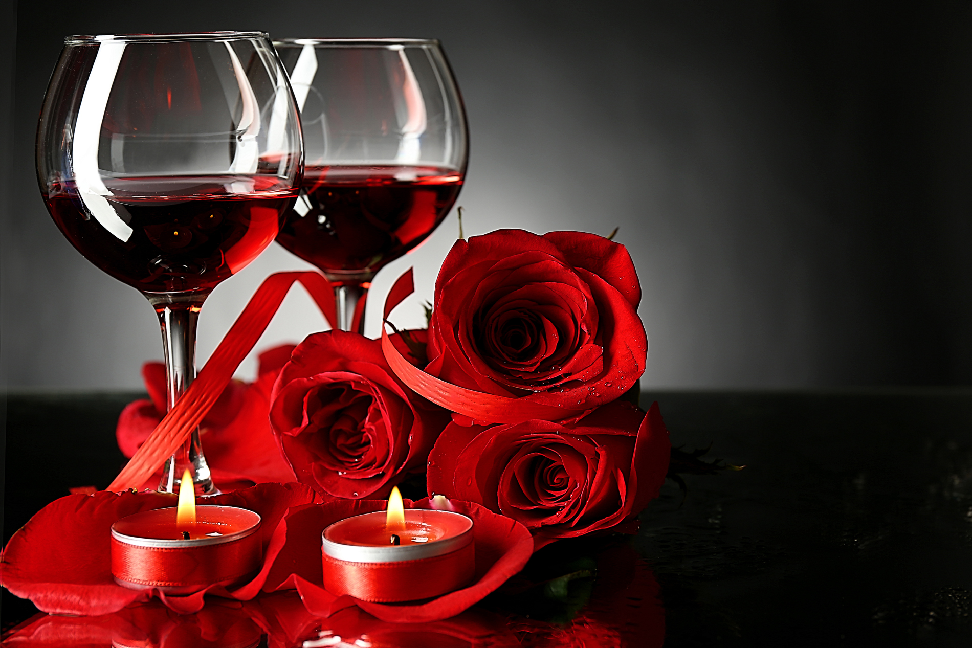 Goblets and the Rose Candle 52648