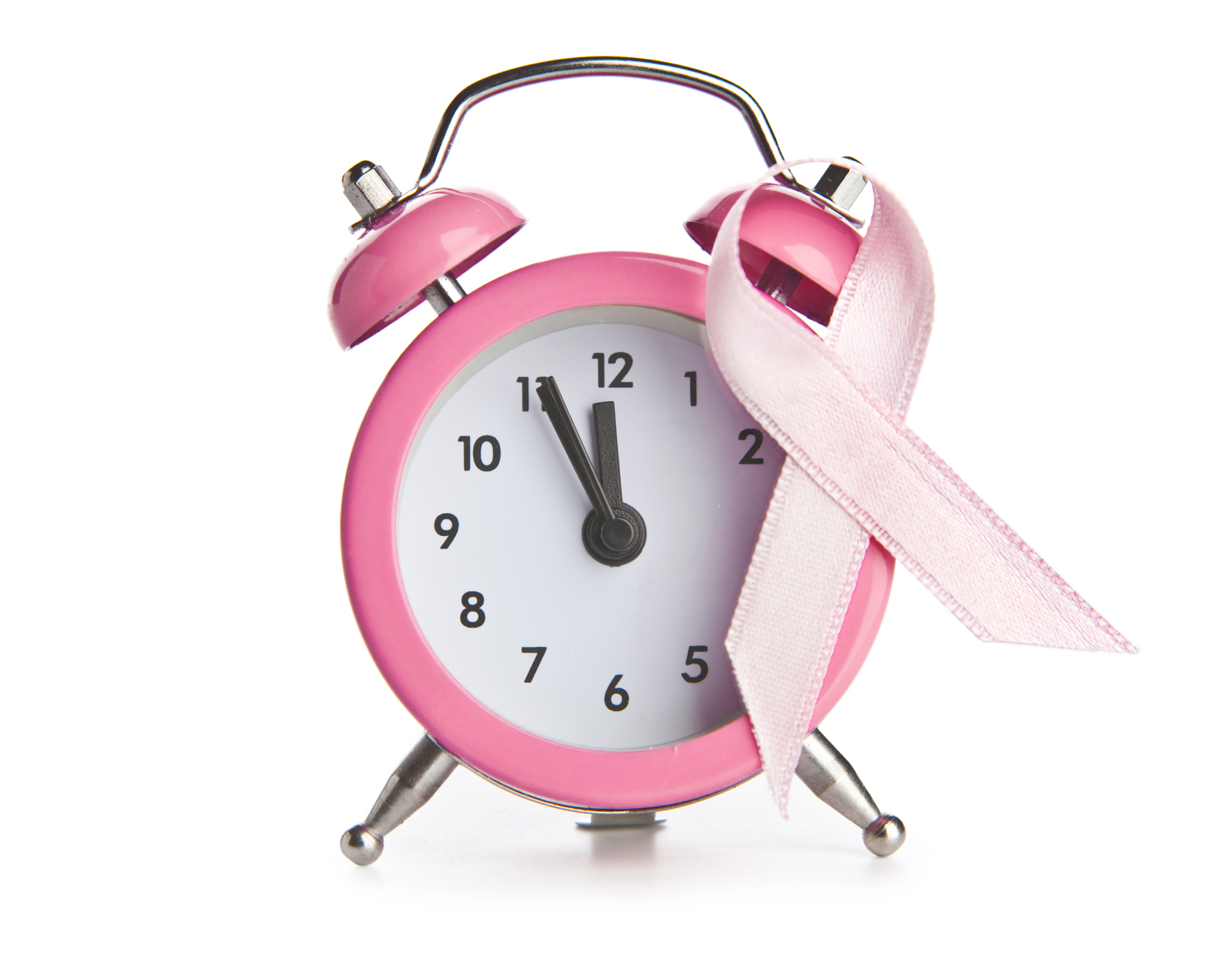Ribbons in pink alarm clock 52737