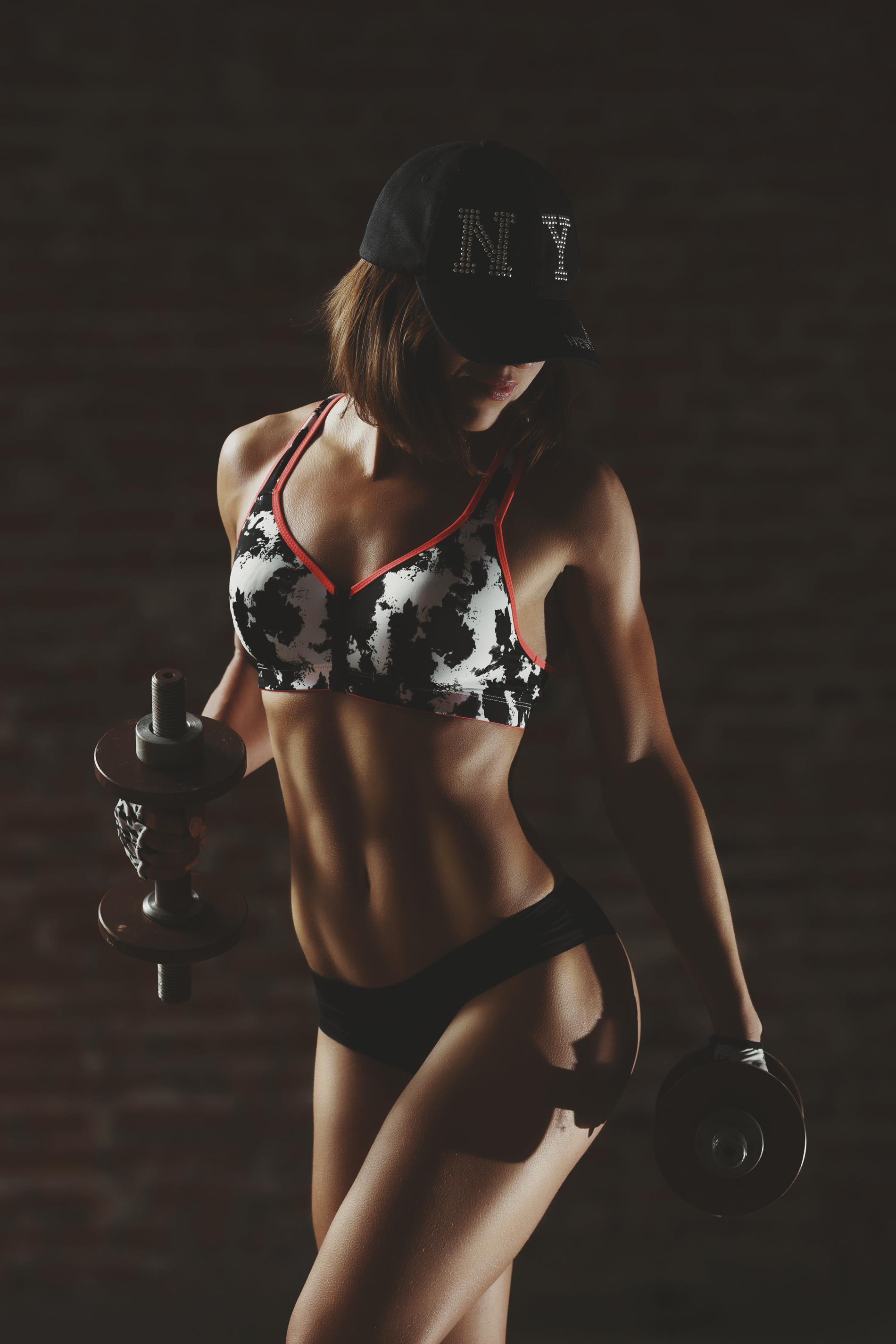 Wearing a baseball cap muscle fitness beauties 52907