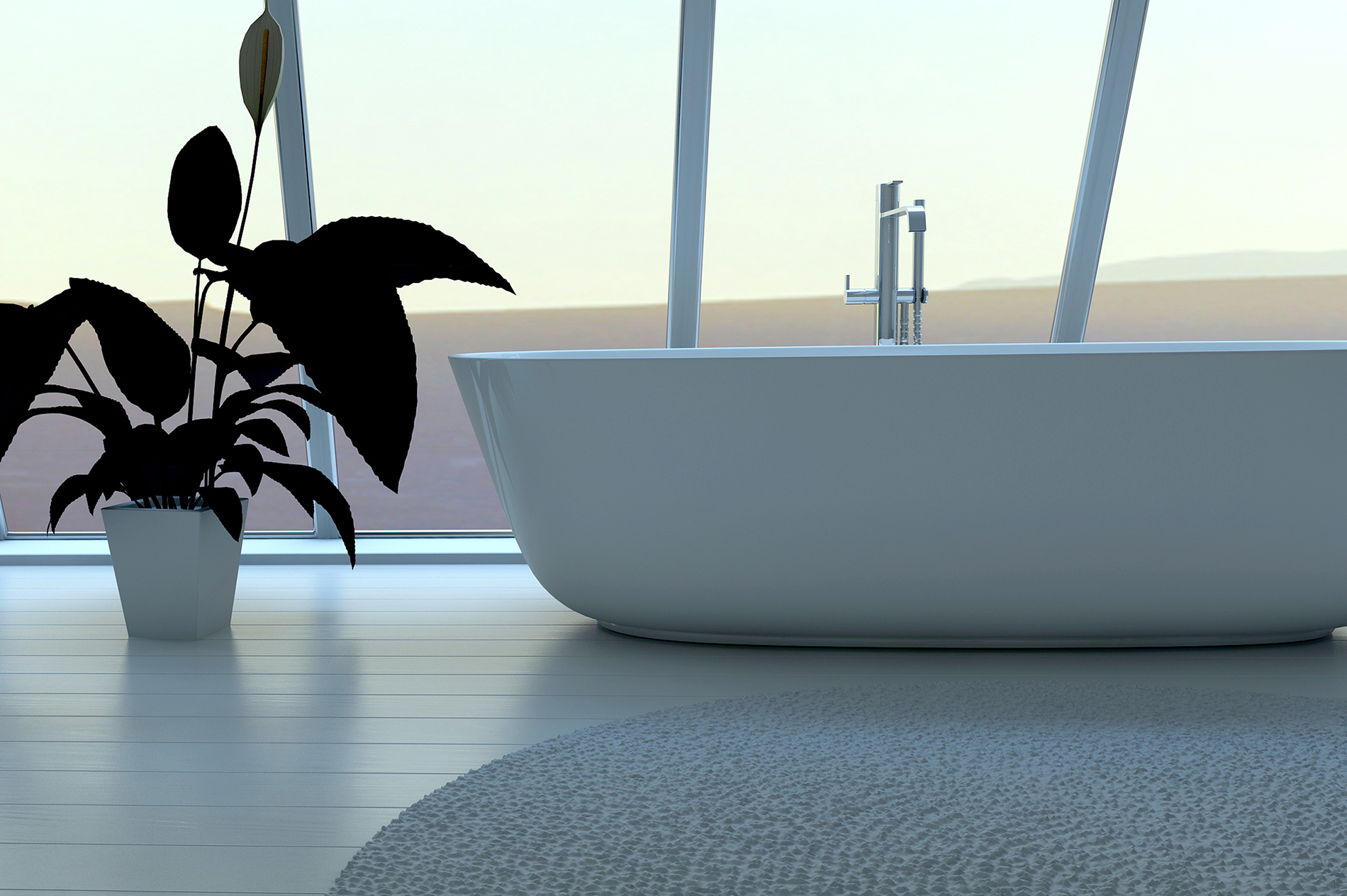 Indoor plants with bathtub 52968