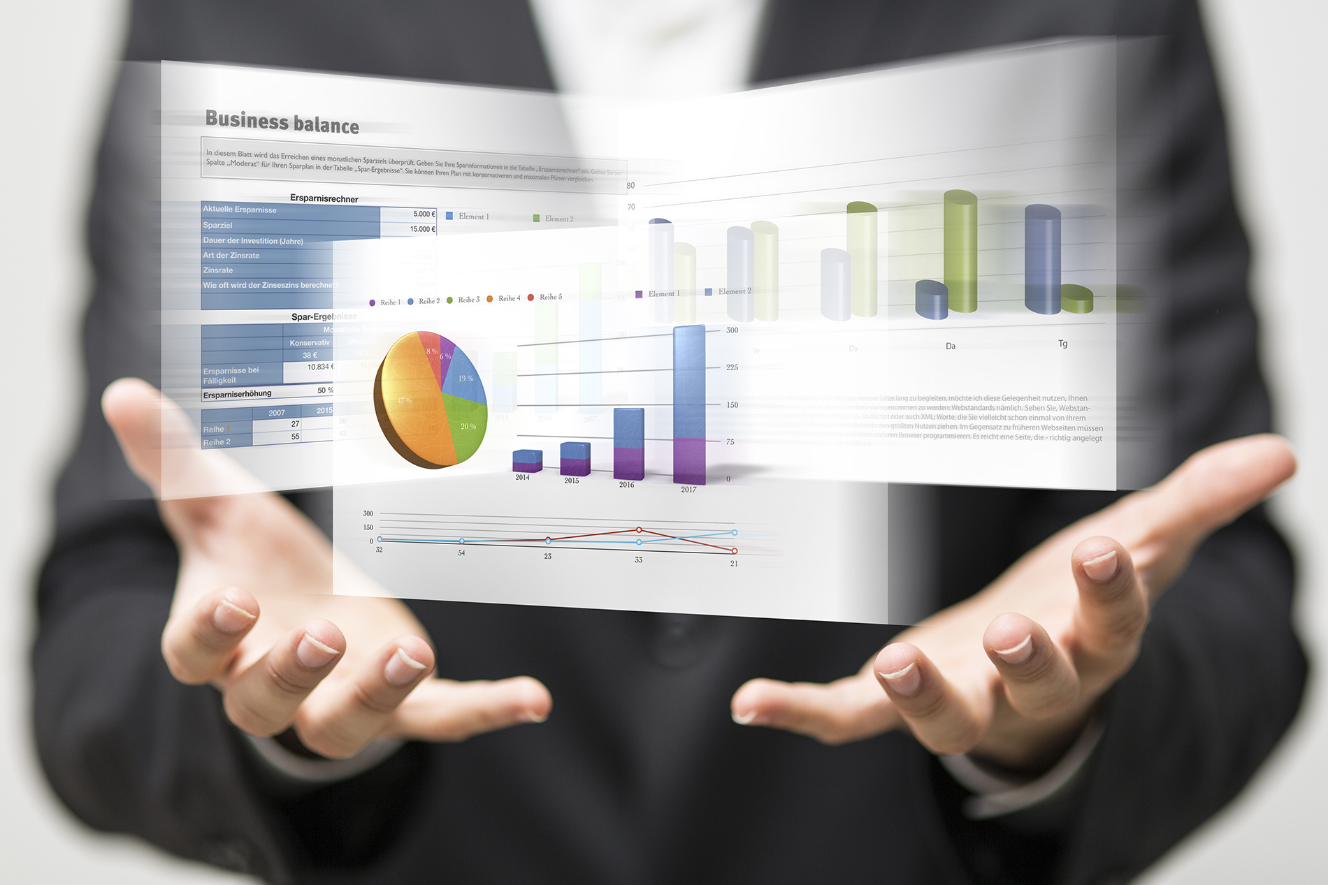 Business figures and charts the creative design 53041