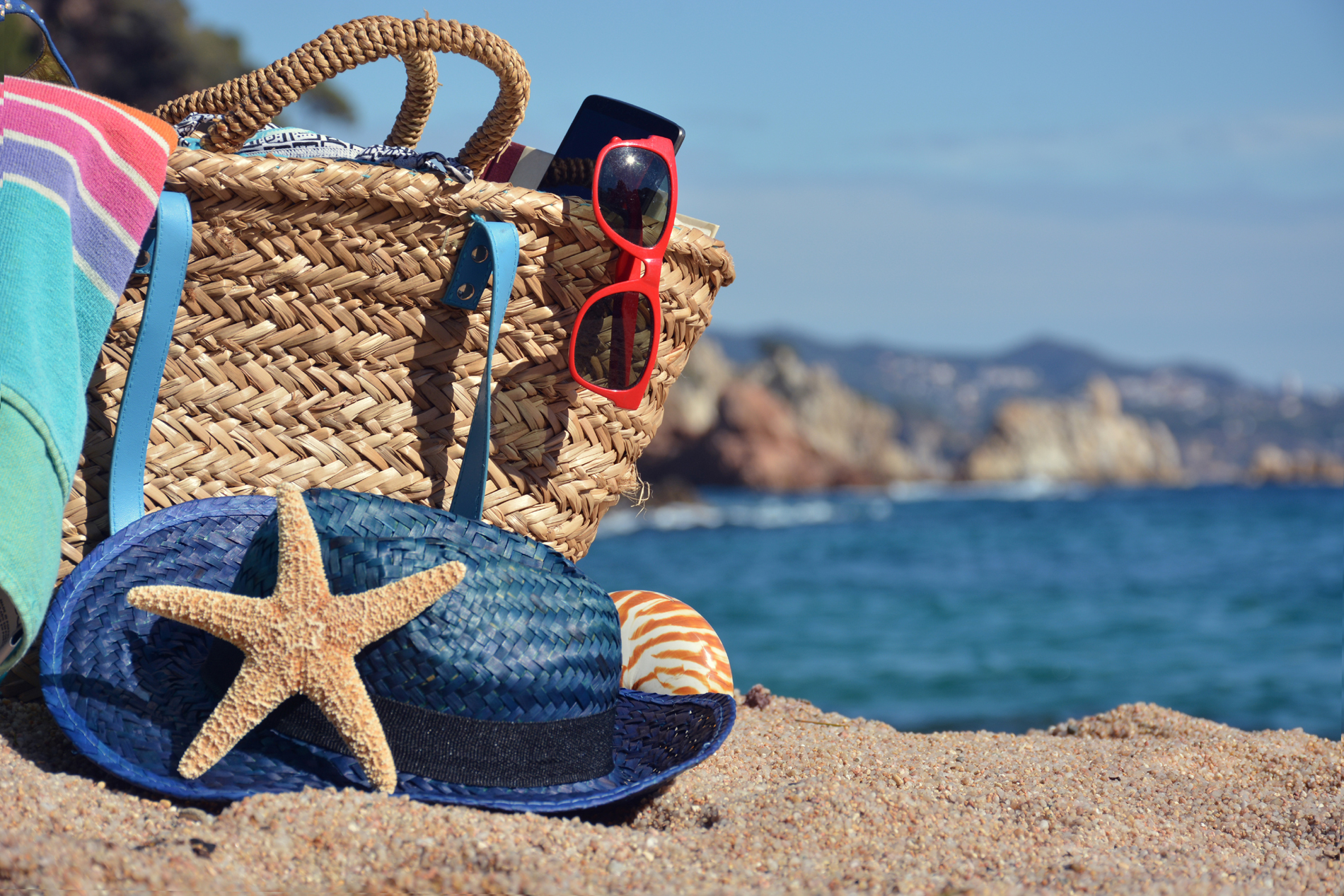 Starfish on the beach Hat 53341