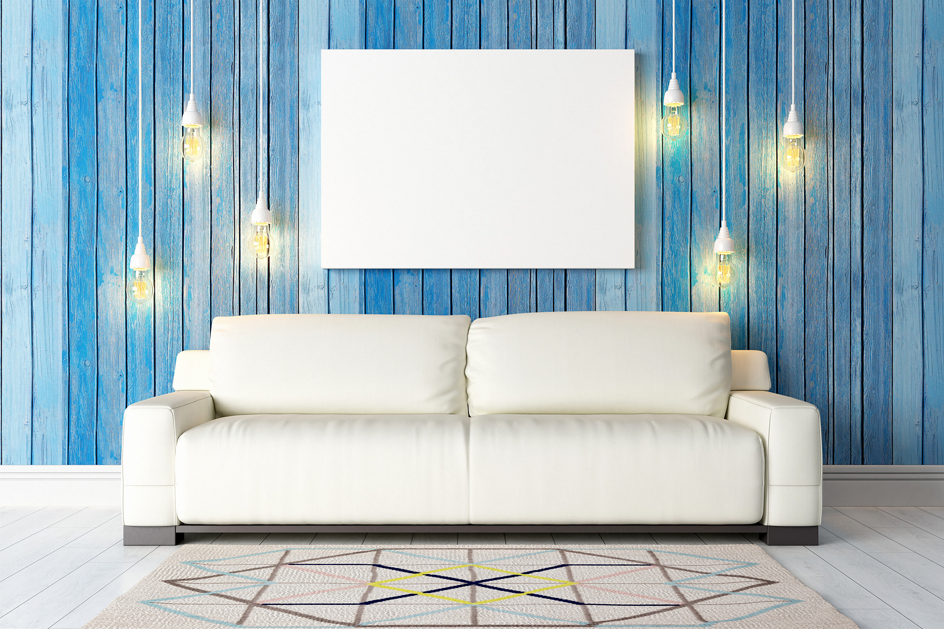 Bulbs and House white sofa 53430