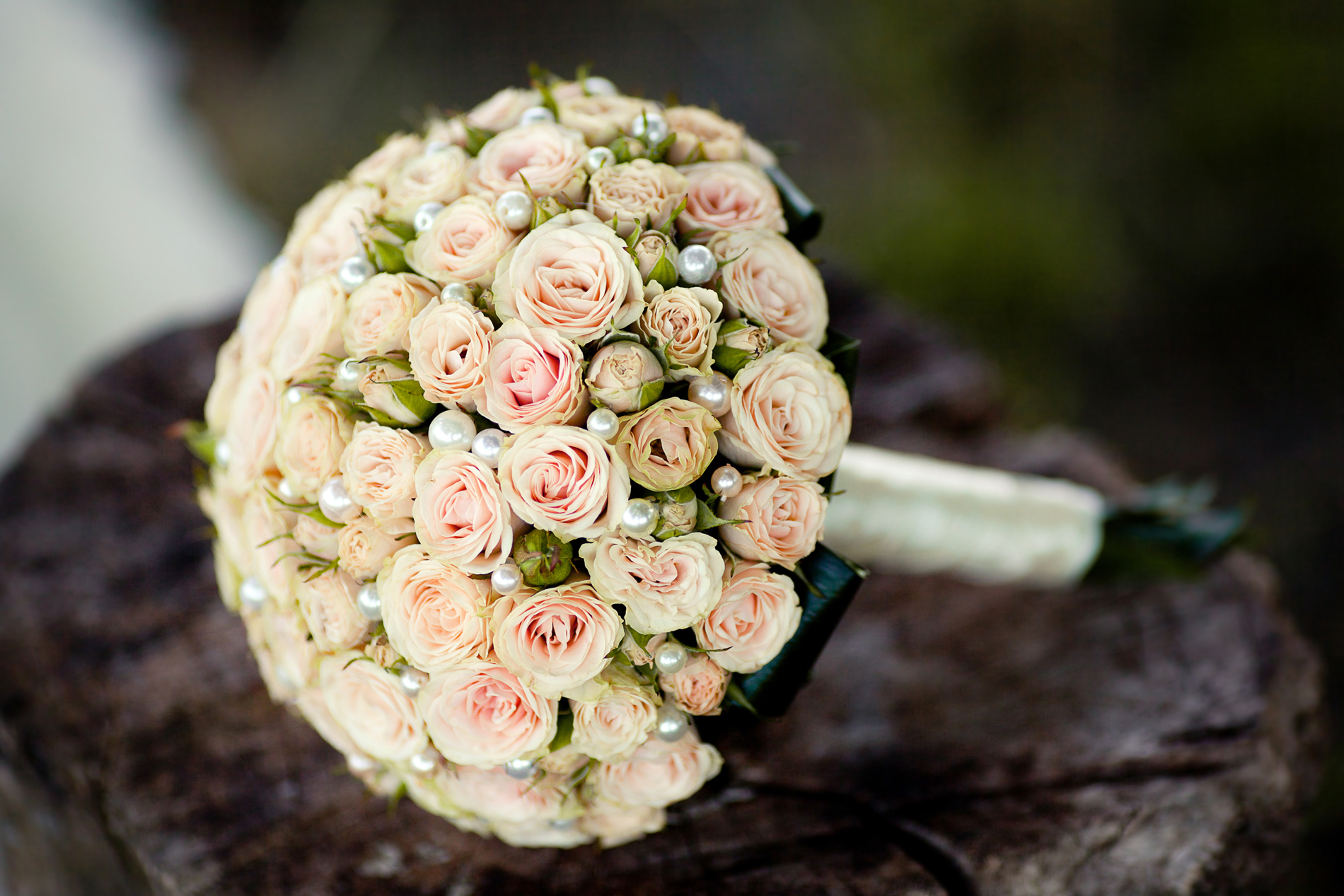 Pearly rose bouquet 53433