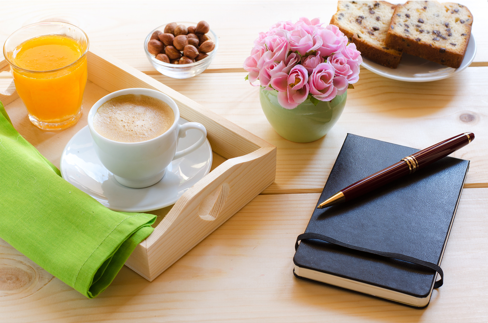 Pen Notepad with coffee, juice 53632