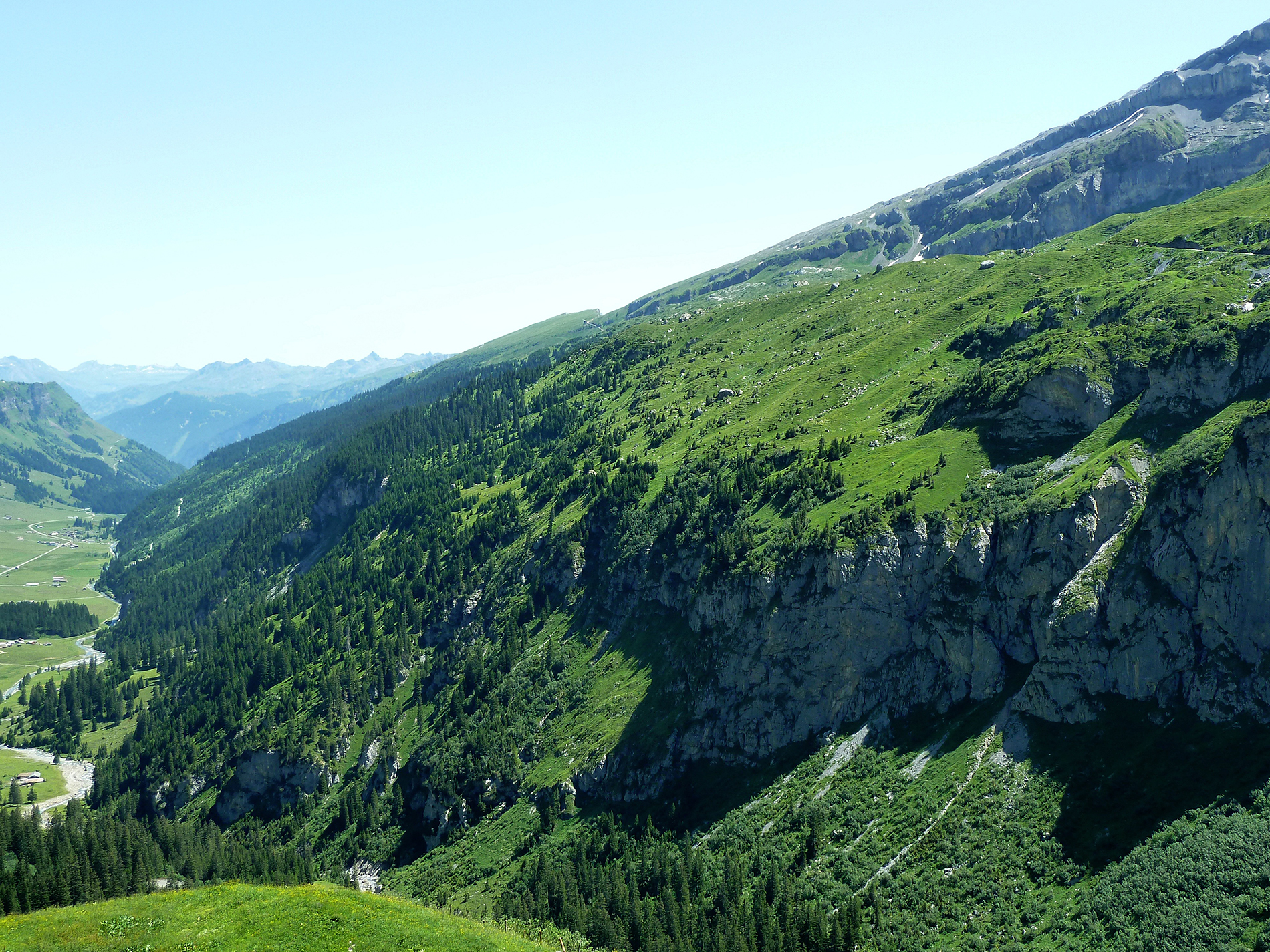 Slopes and beautiful green mountains 53685