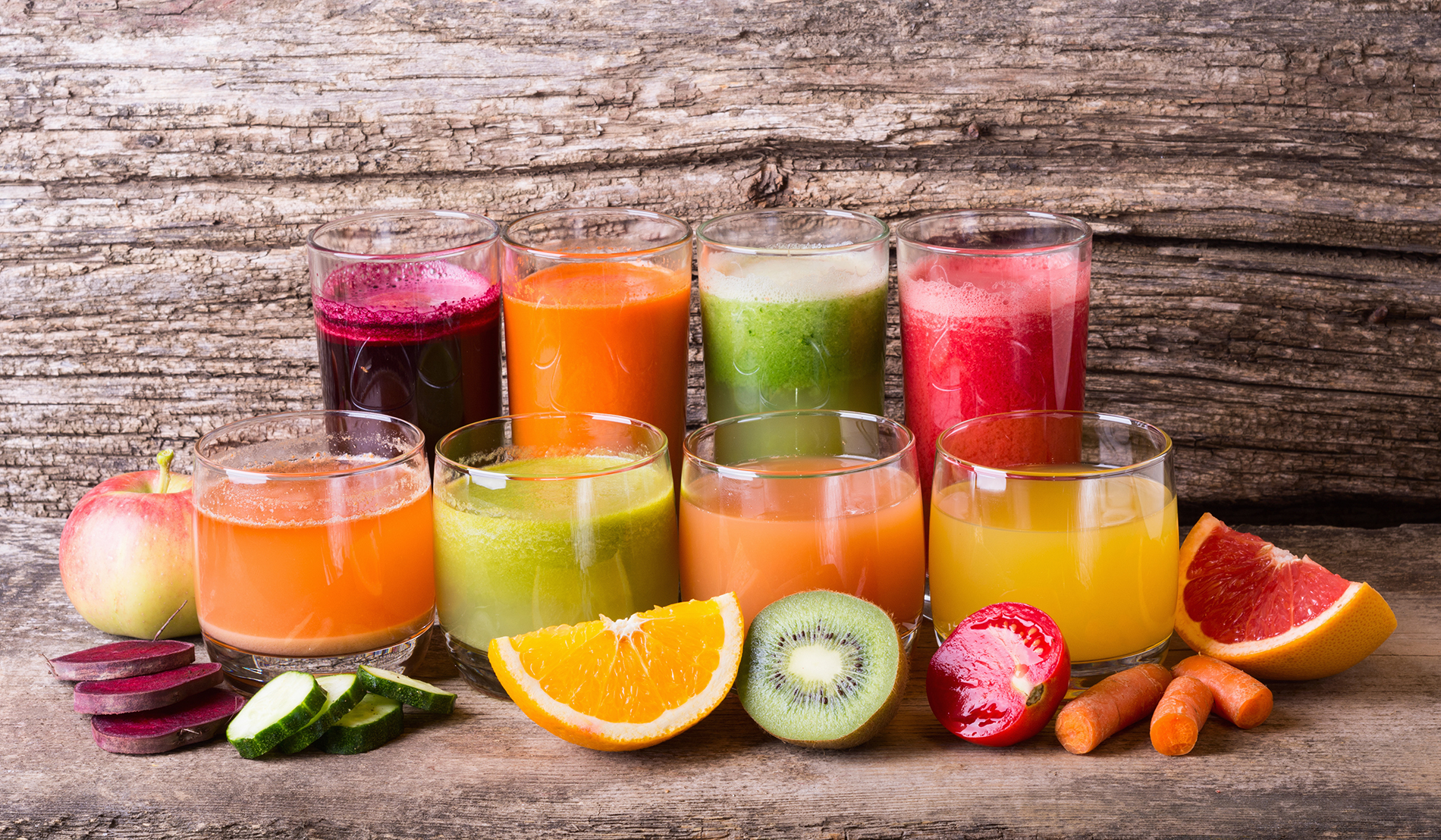 A line of fruit juice and fruit and vegetables 53701