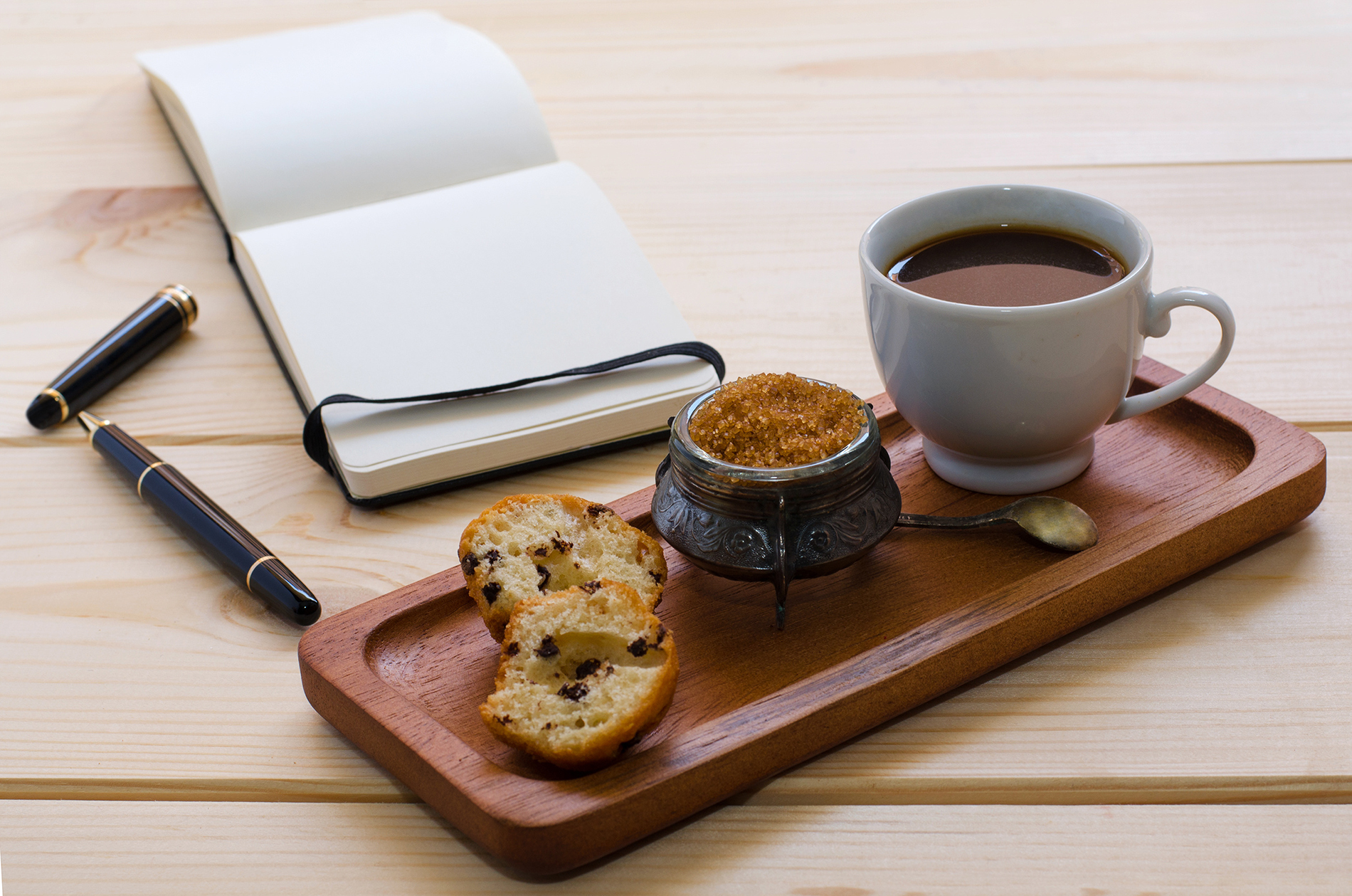 Brown sugar, coffee with the blank Notepad 53715
