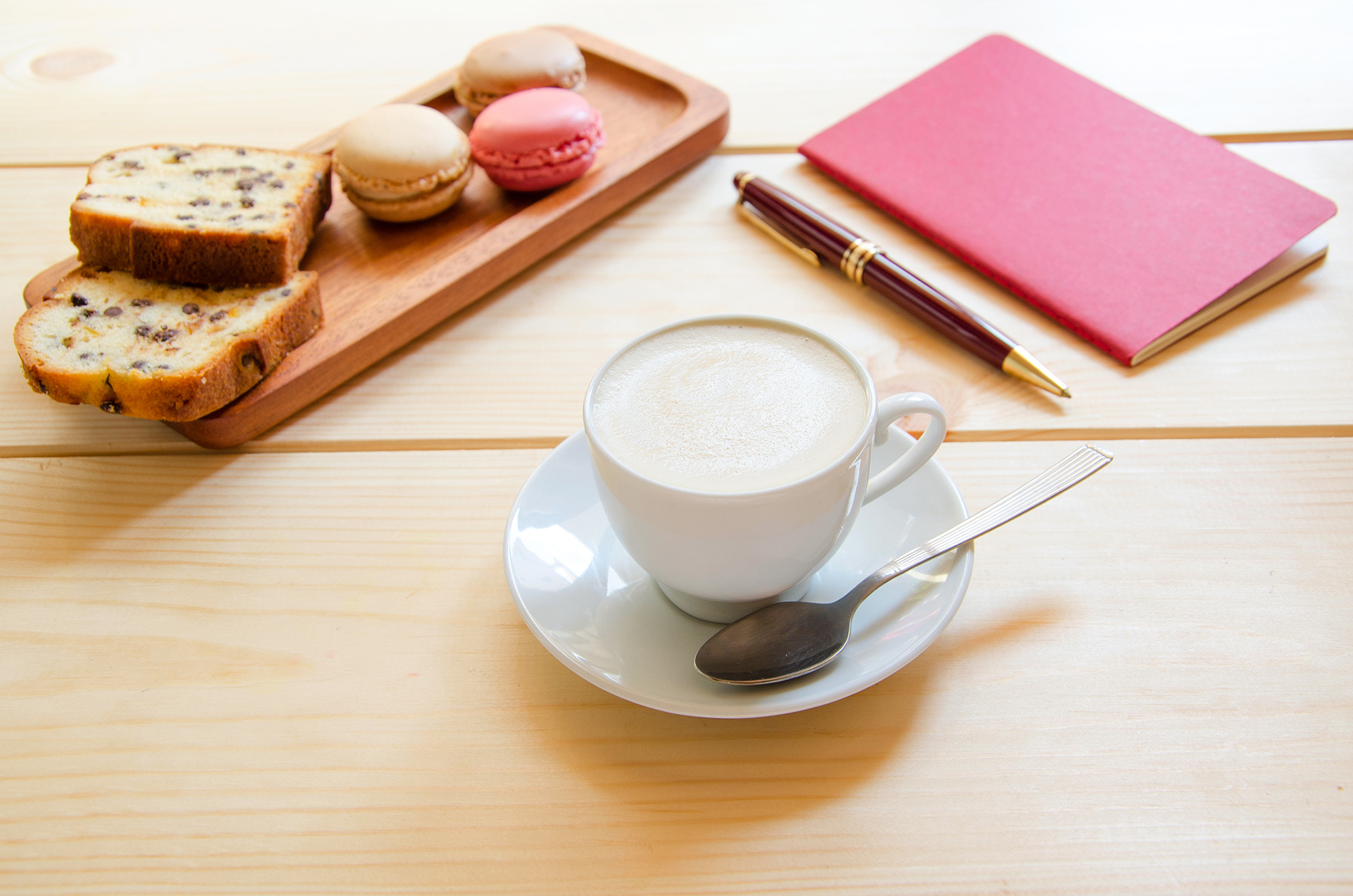 Macarons biscuits and a cup of coffee 53753