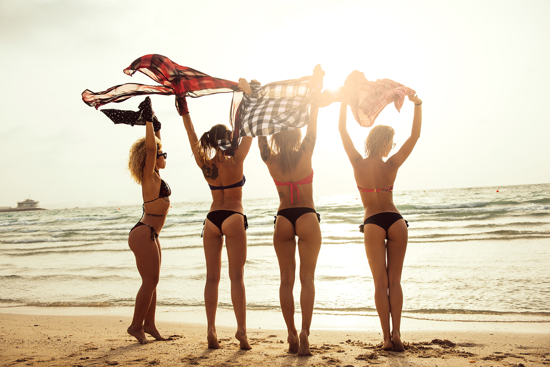 Standing on the beach beauties 53888