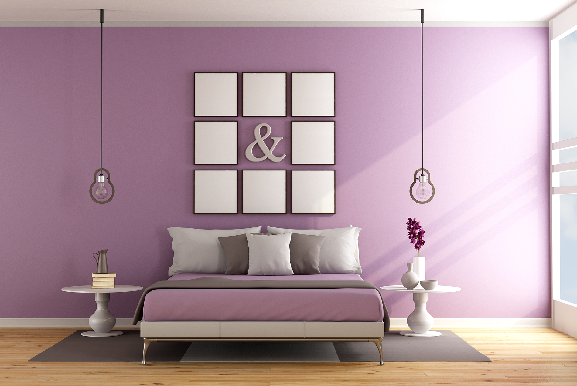 Bed and wall decoration paintings etc.  54024