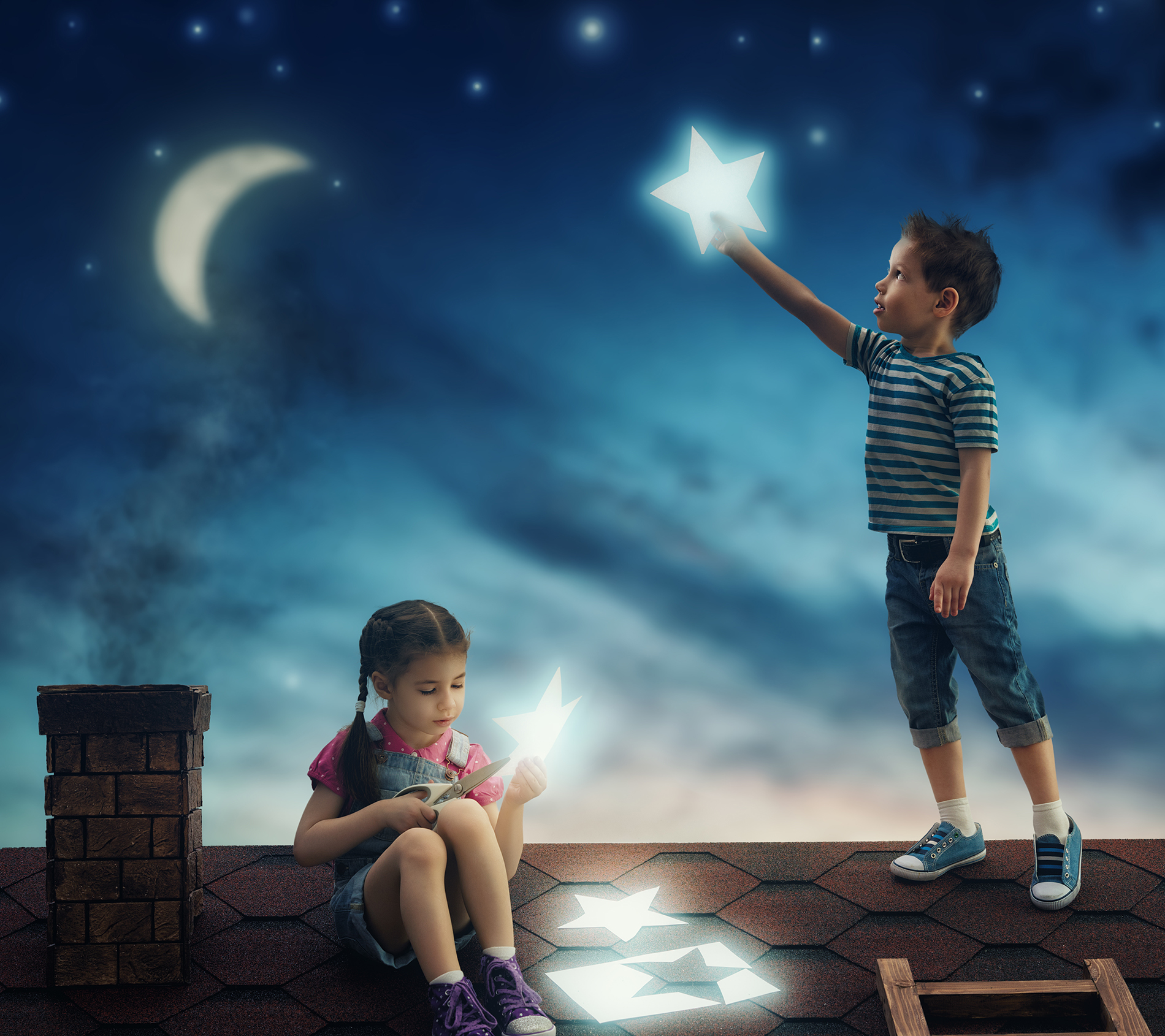 Child reaching for the stars  54074