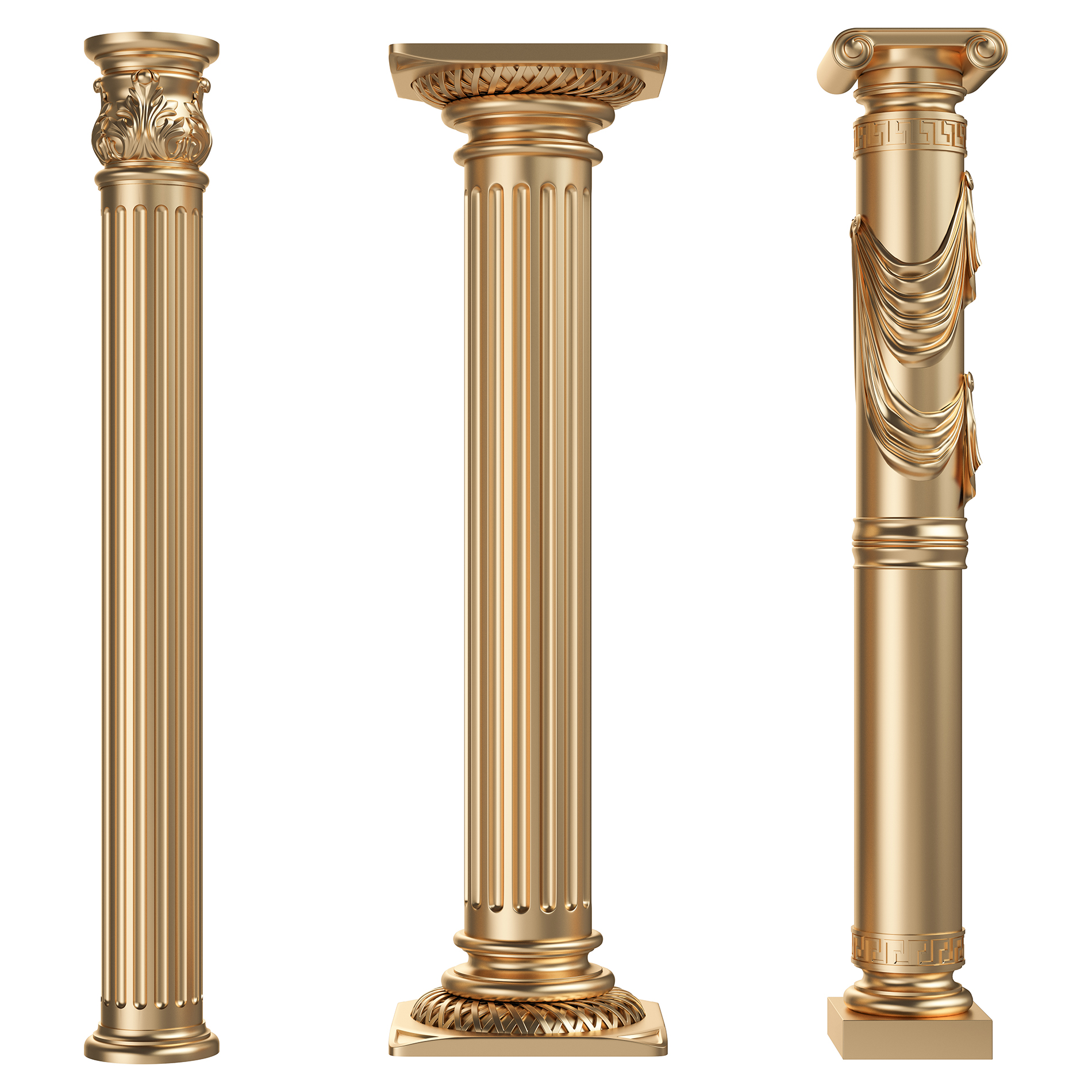 Golden Roman Column  54218