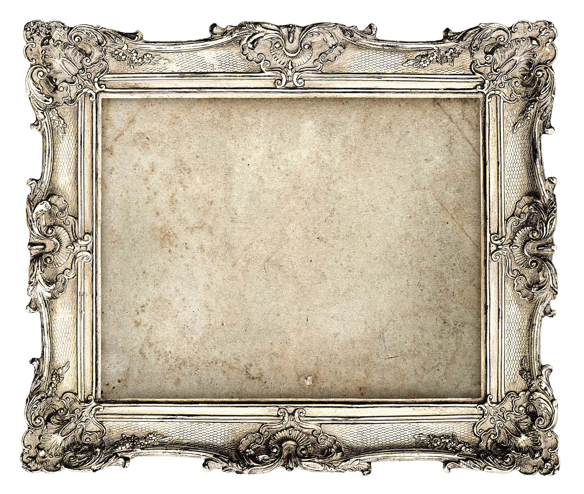 Silver carved picture frame  54226