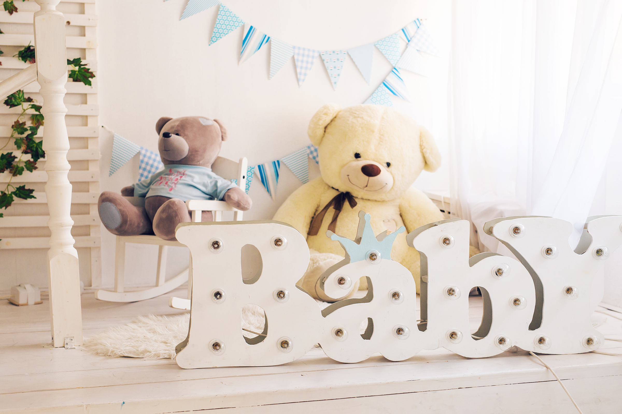 Teddy bear 4873 in a children's room 54276