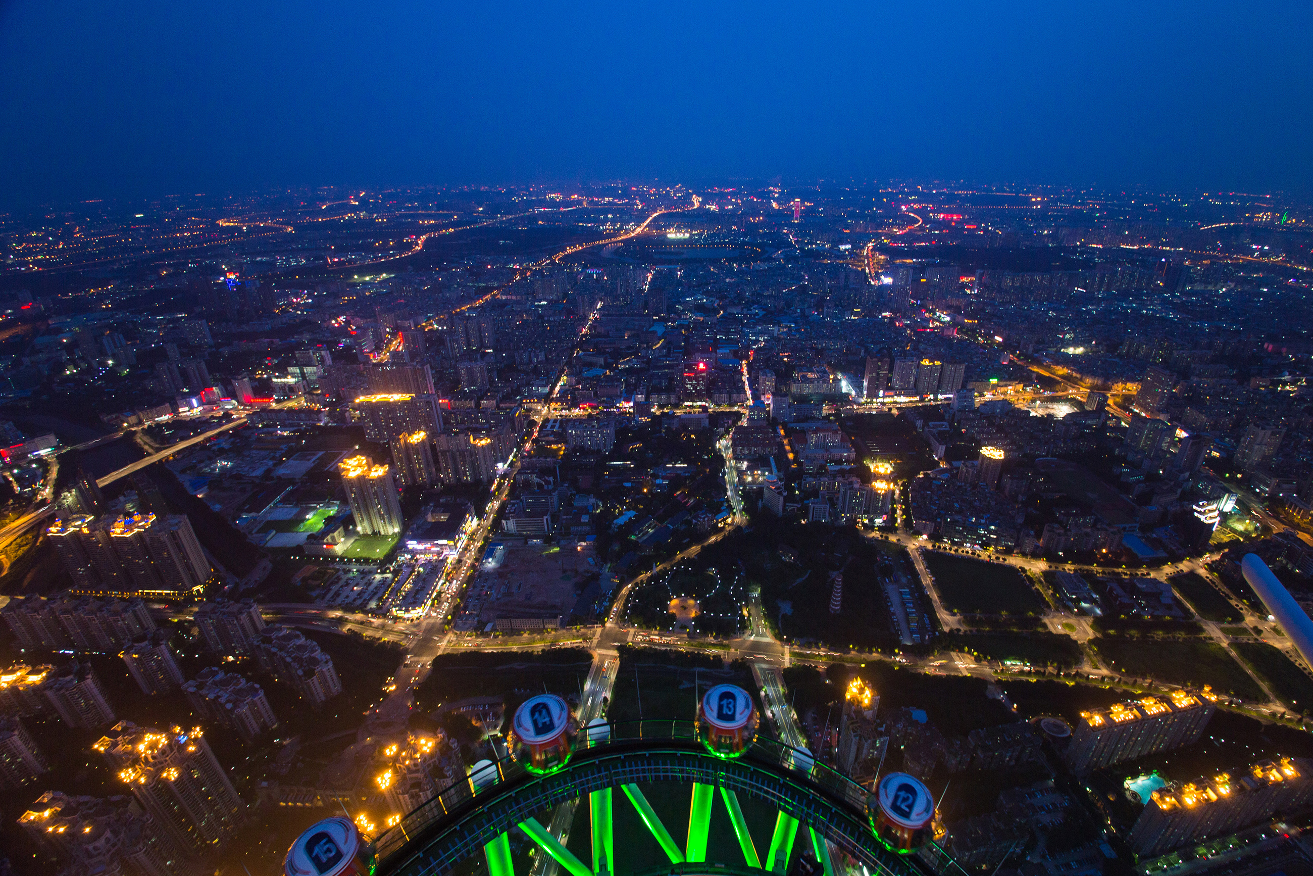 Guangzhou beautiful night view aerial view 54663