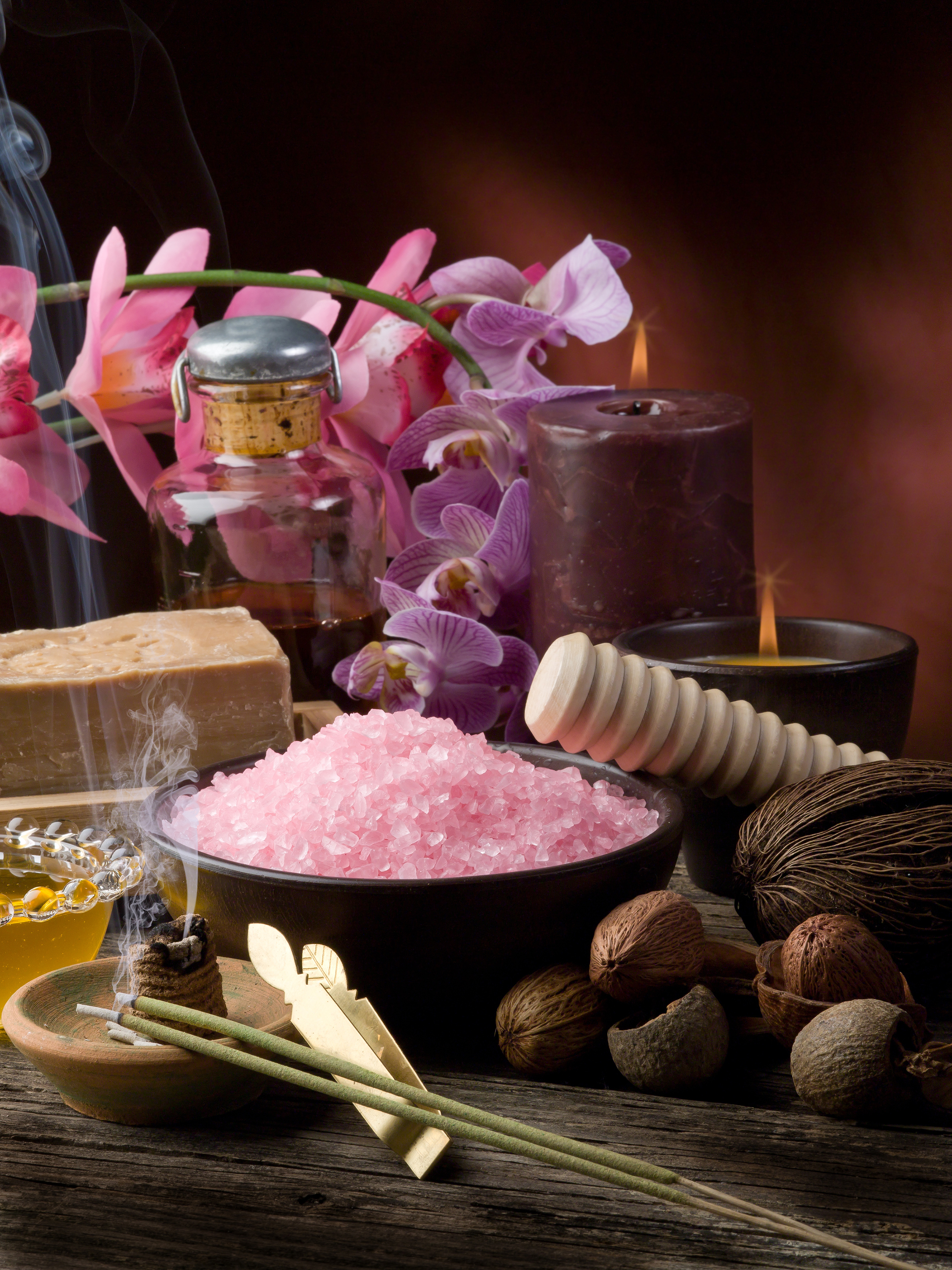 Orchids and bath salts, etc. SPA supplies 55164