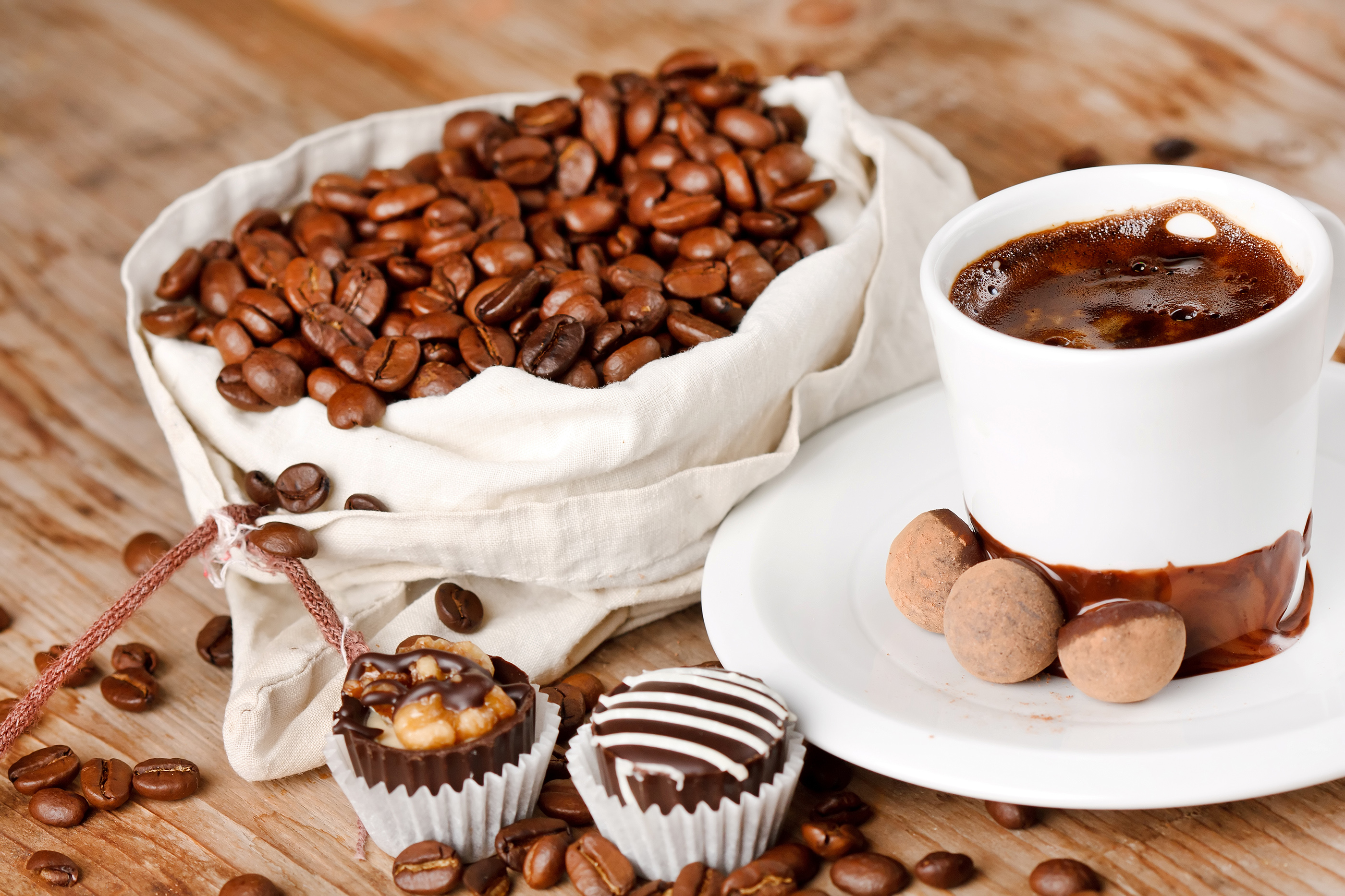 Chocolate with coffee beans 55170