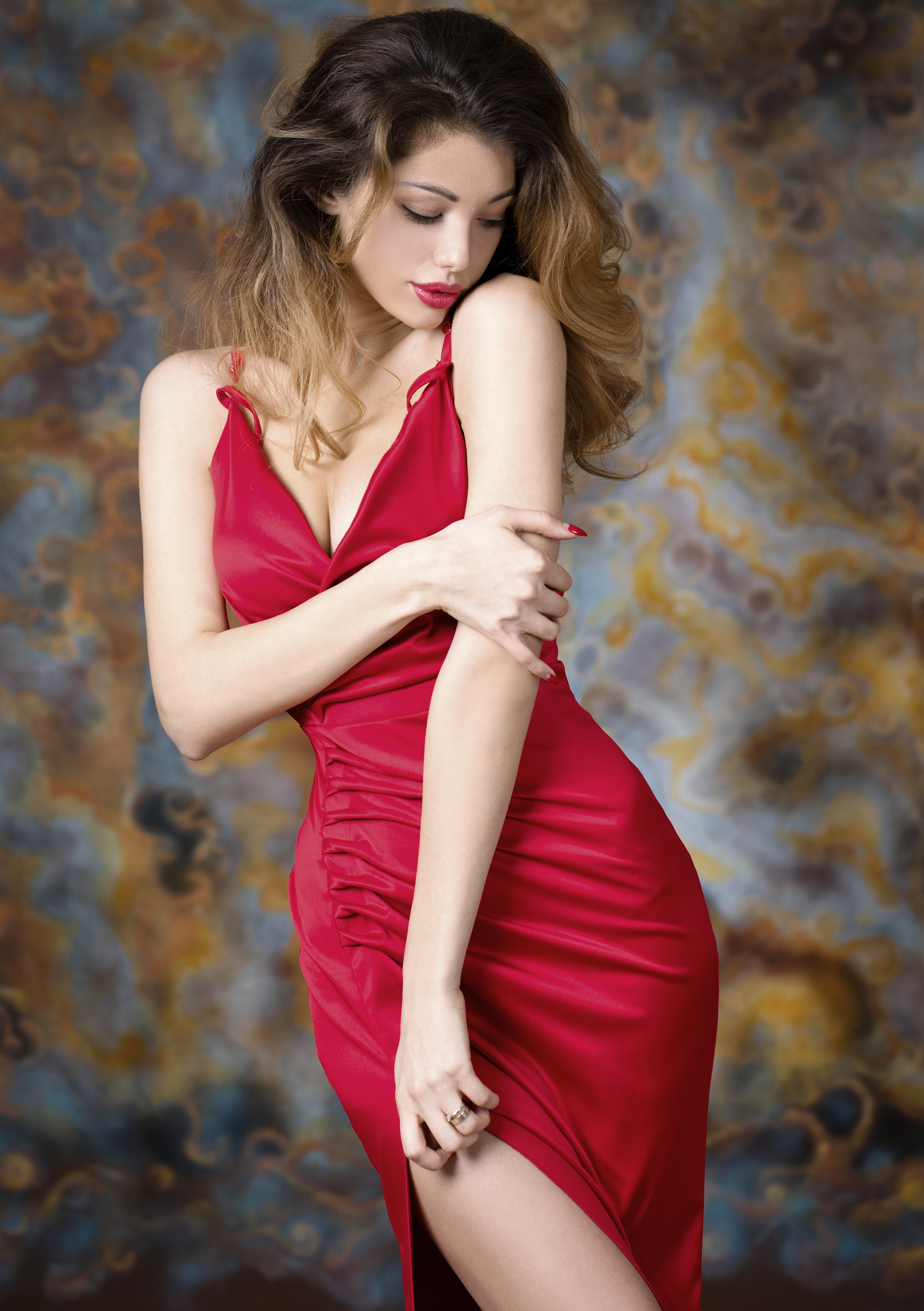 Red skirt, beauty, character 55305