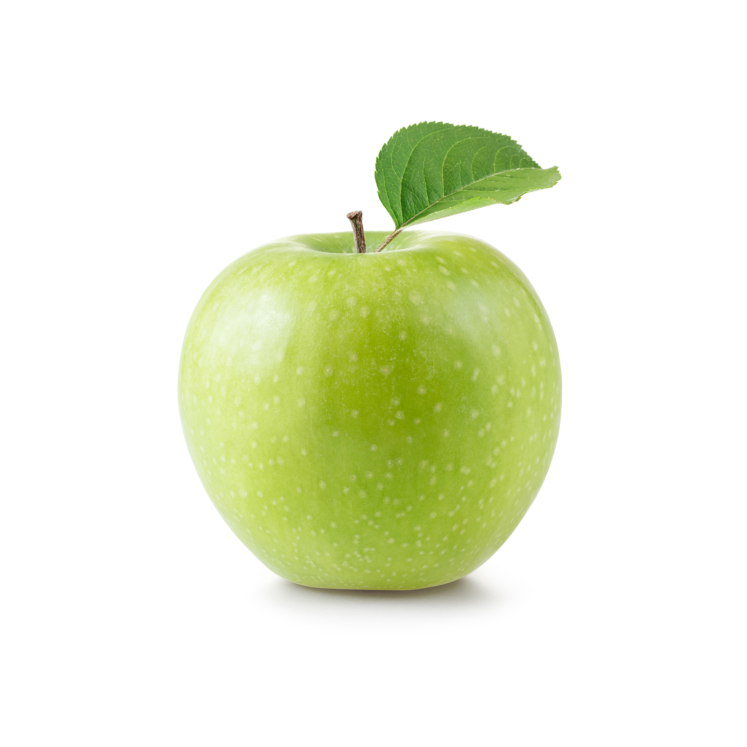 Green apple with green leaves 55380